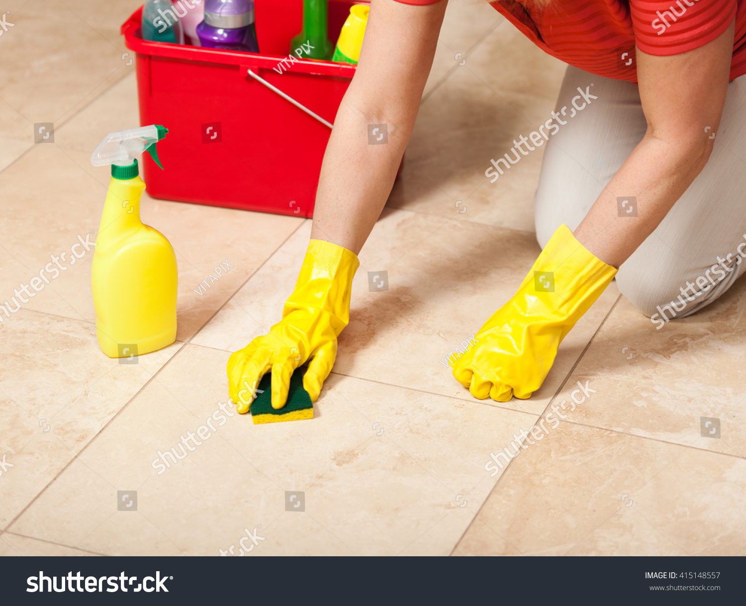 Easiest way to mop tile floors