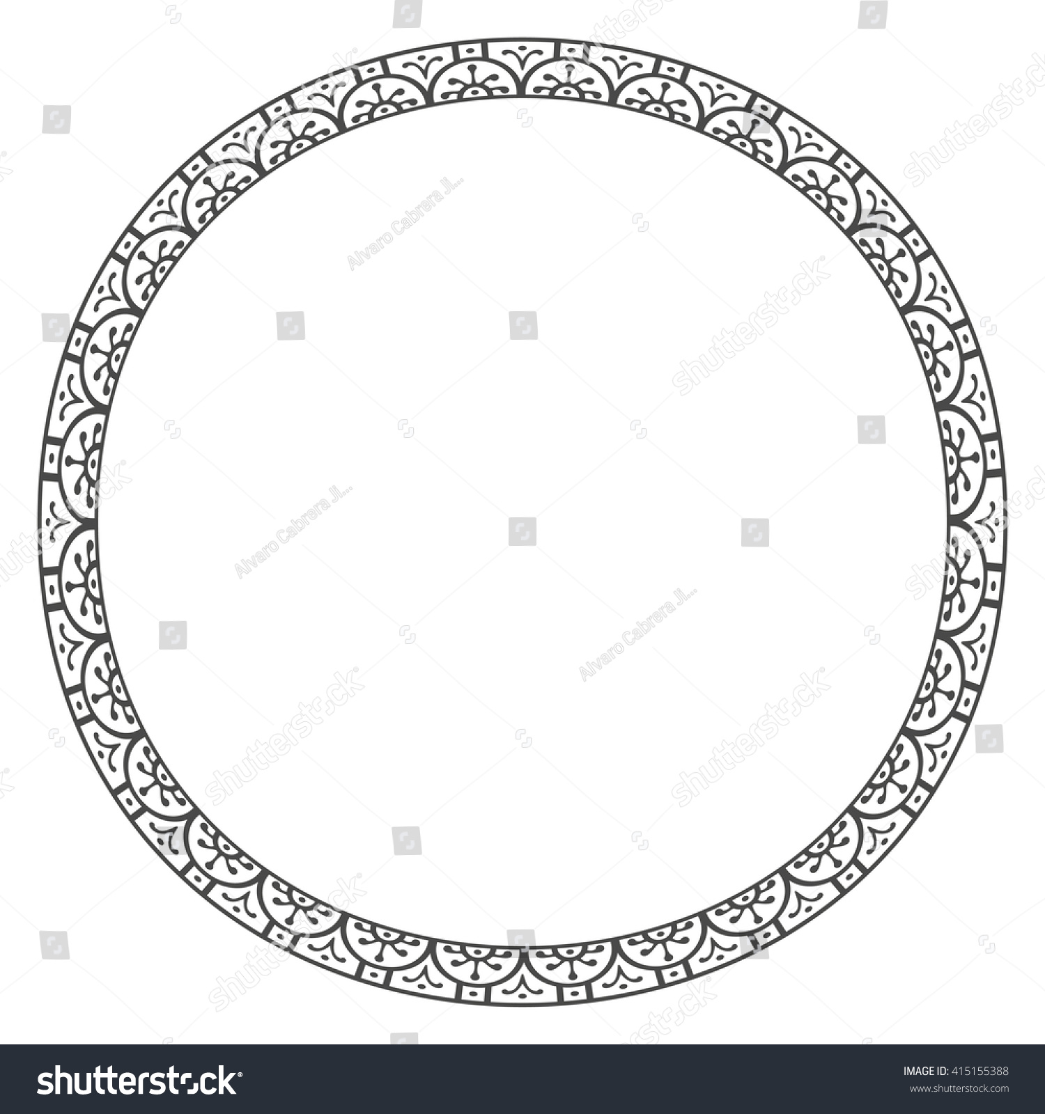 Old classic border rounder designs stock vector for Classic border design