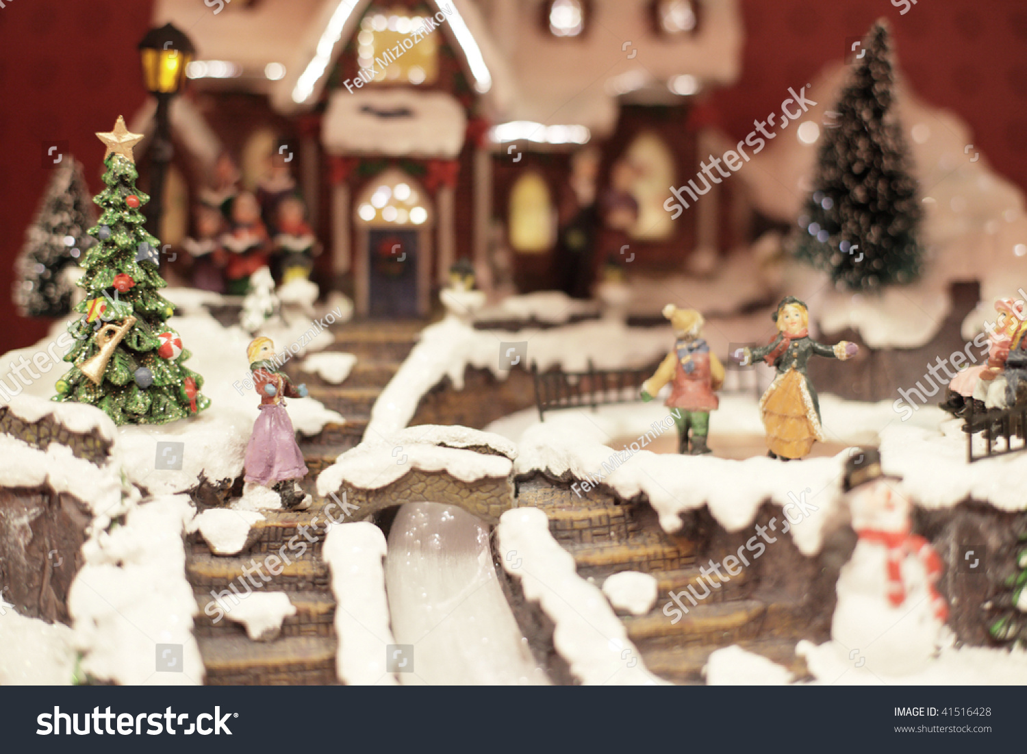 Miniature Christmas Village Stock Photo Edit Now 41516428