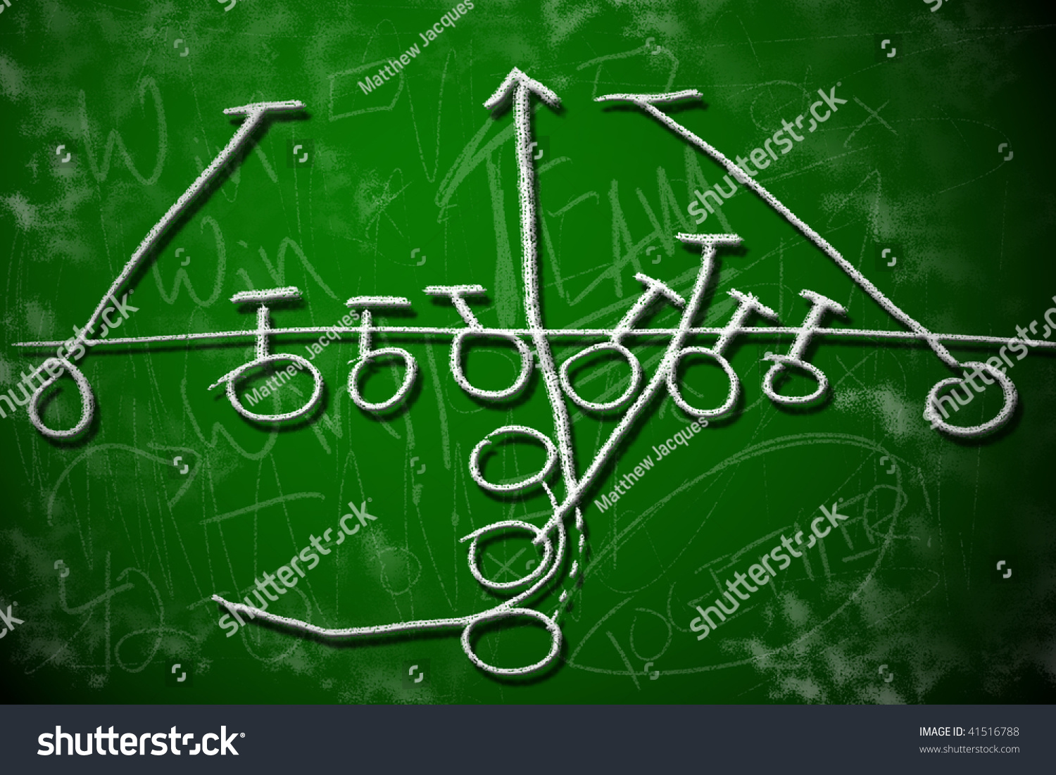 Football running play strategy on green stock illustration football running play strategy on green chalkboard playbook diagram concept pooptronica Images