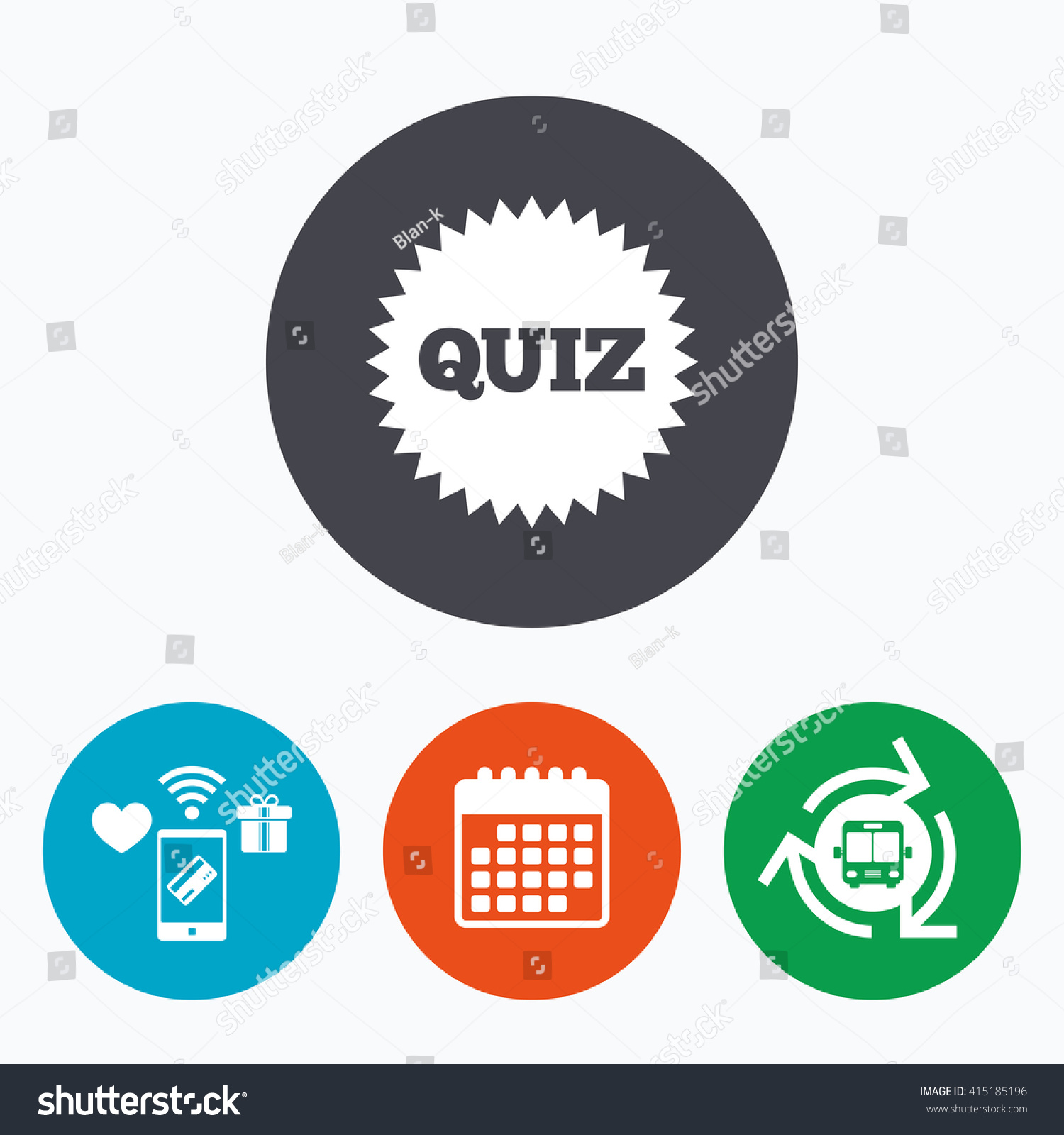 quiz star sign icon questions answers stock vector  quiz star sign icon questions and answers game symbol mobile payments calendar and