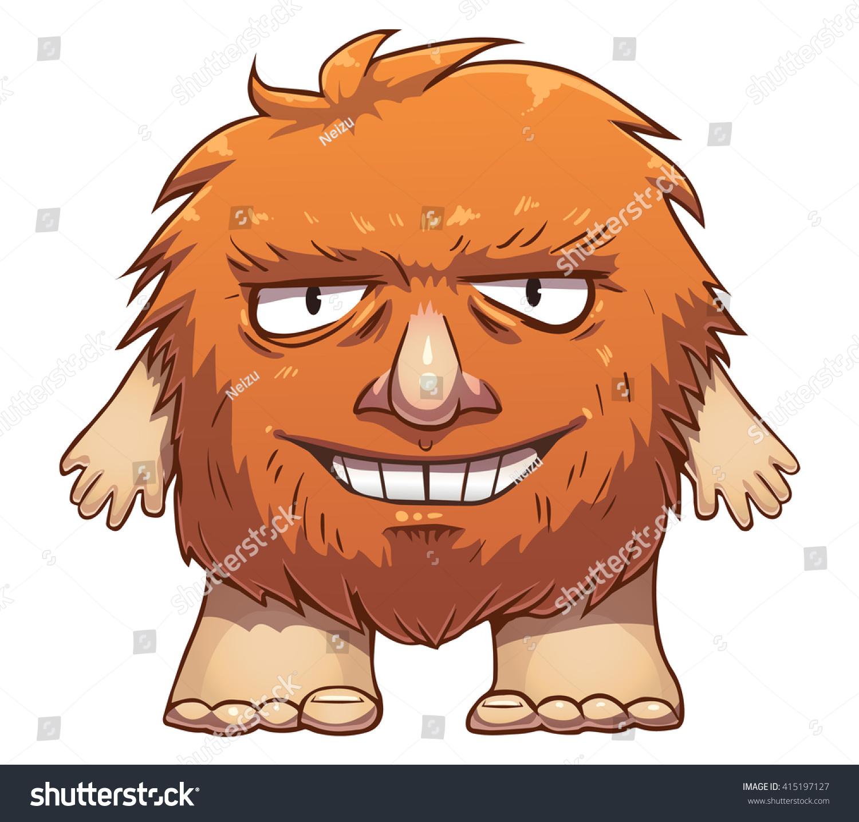 Cartoon Hairy Ginger Troll Stock Vector Royalty Free 415197127