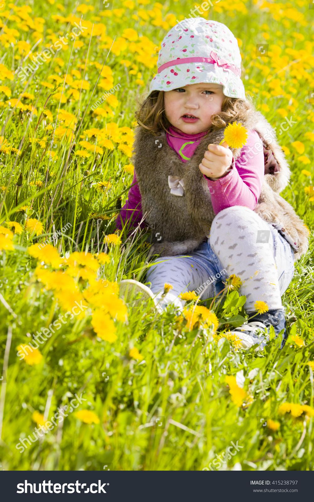 cute baby girl sun cap on stock photo (edit now) 415238797