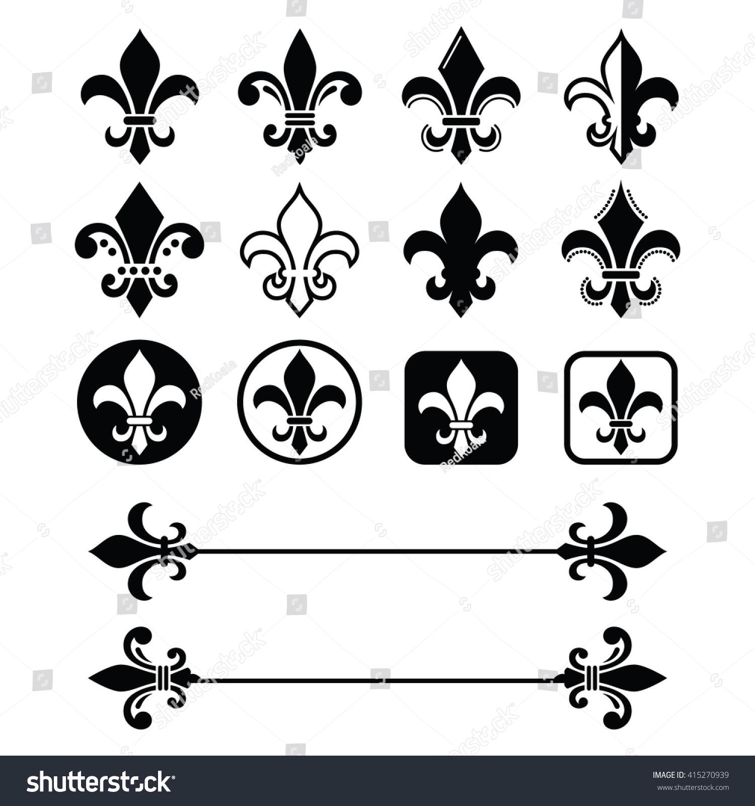 Fleur de lis french symbol design stock vector 415270939 fleur de lis french symbol design scouting organizations french heralry biocorpaavc