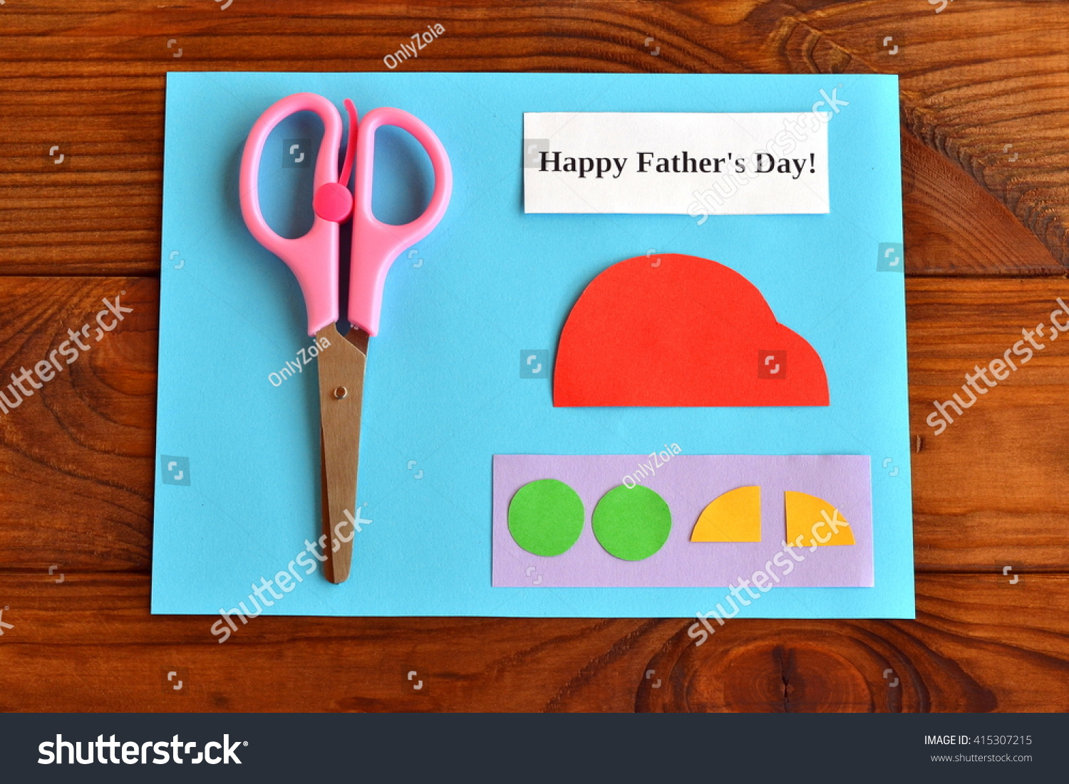 Royalty Free Set For Greeting Card Fathers Day 415307215 Stock