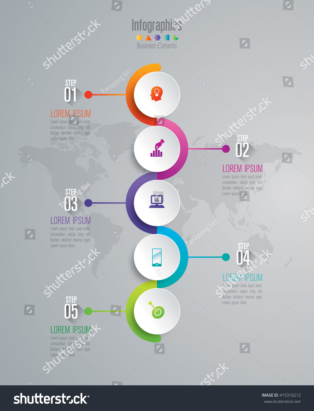 Timeline Infographic Design Vector Marketing Icons Stock