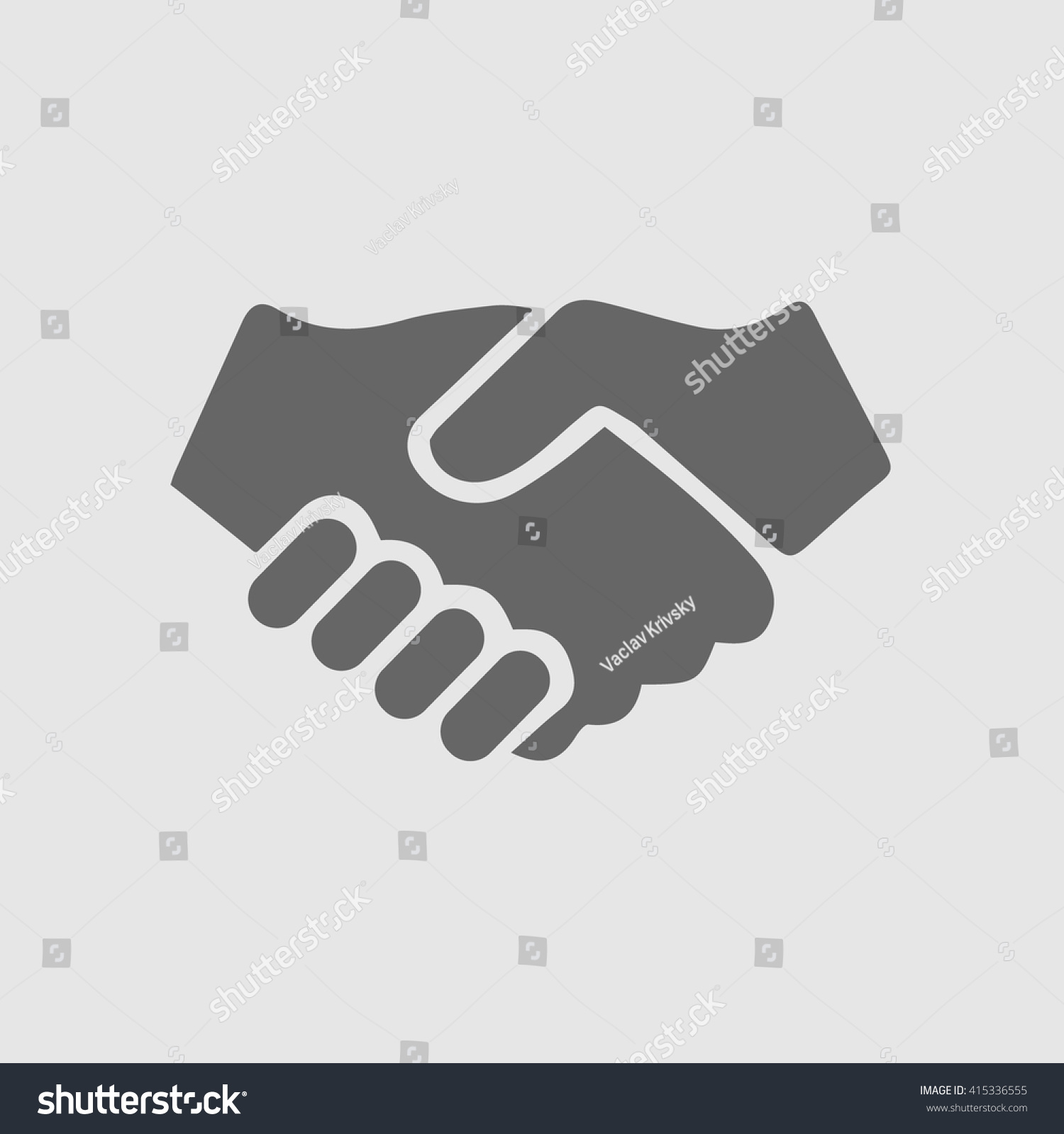 partnership vector handshake icon hand shaking のベクター画像素材