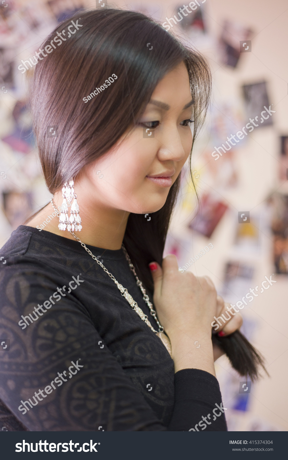 beautiful japanese girl wears national yakut stock photo (edit now