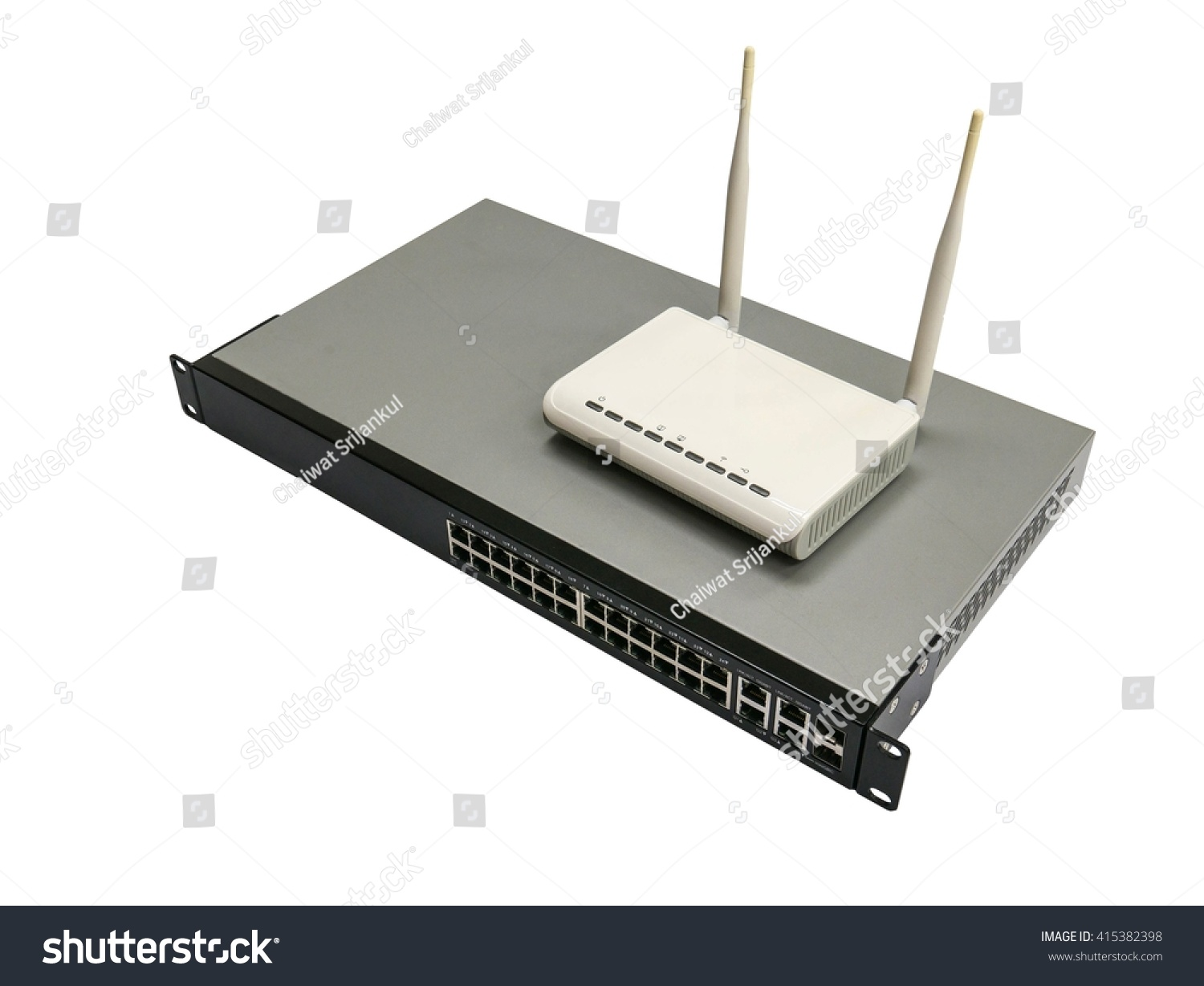 Access Point Wifi On Ethernet Switch Stock Photo (Edit Now ...