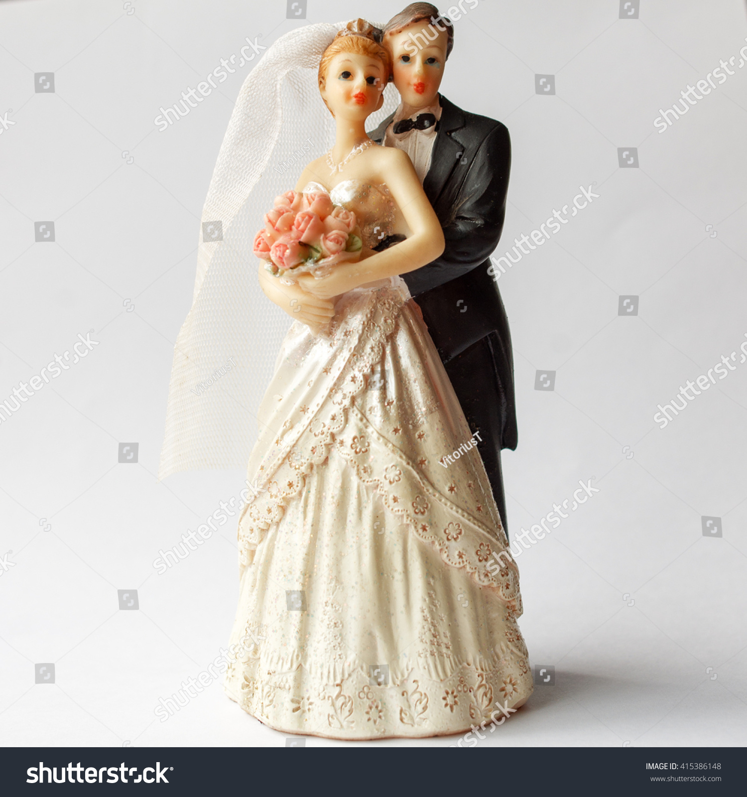 Bride And Groom Music Cake Topper