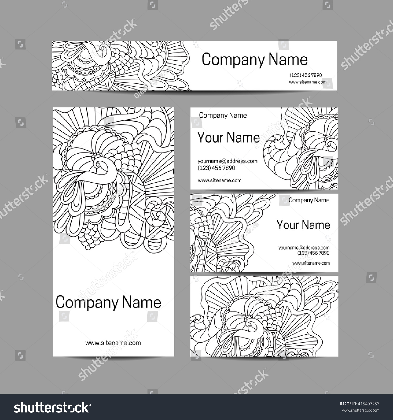 Zentangle Business Cards Gallery - Card Design And Card Template