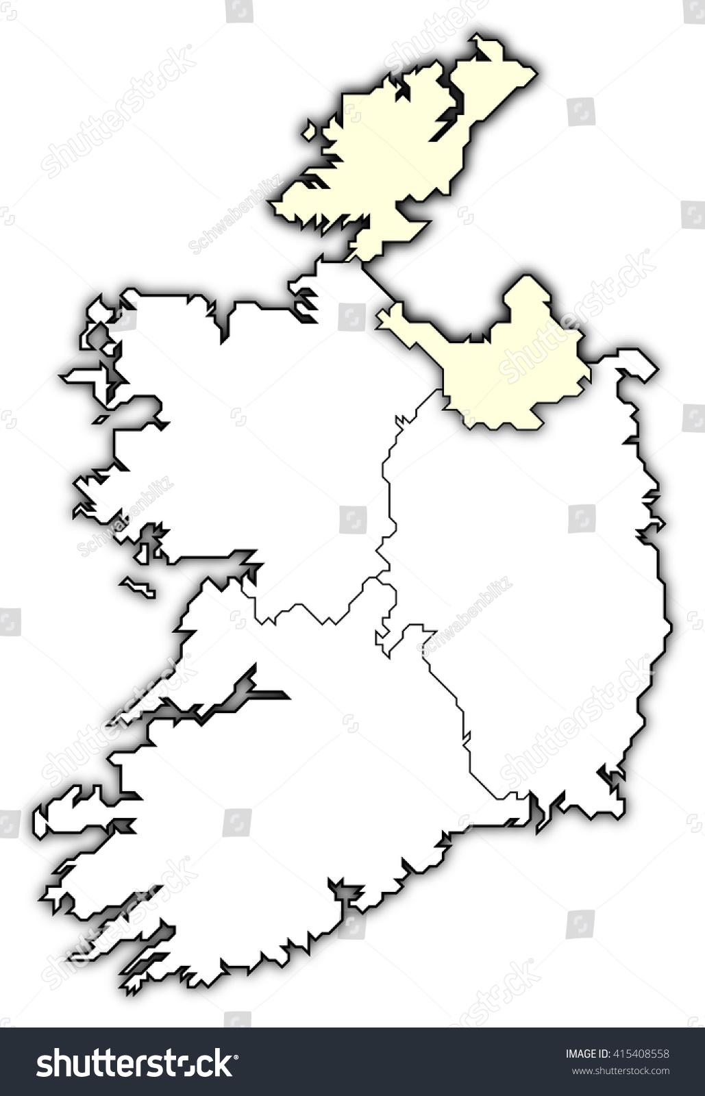 Map Ireland Ulster Stock Illustration Royalty Free Stock