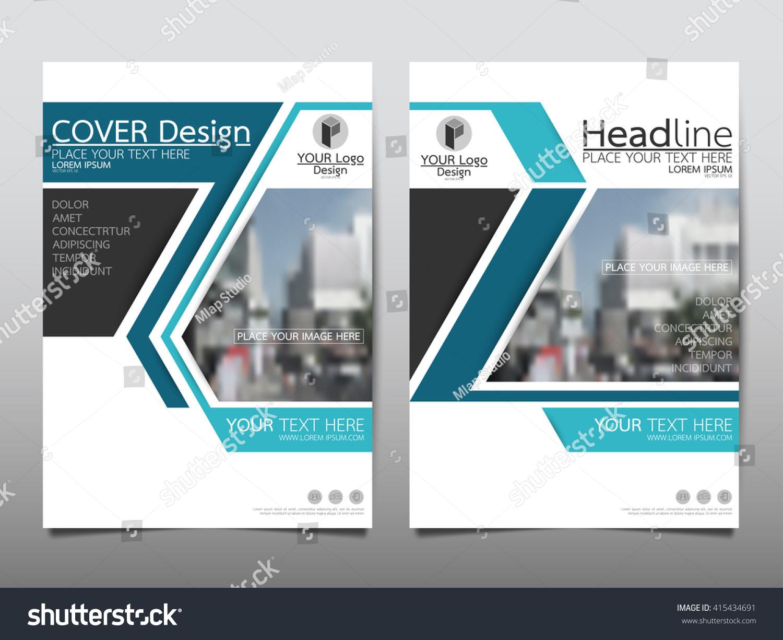 blue technology annual report brochure flyer design template vector  leaflet cover presentation