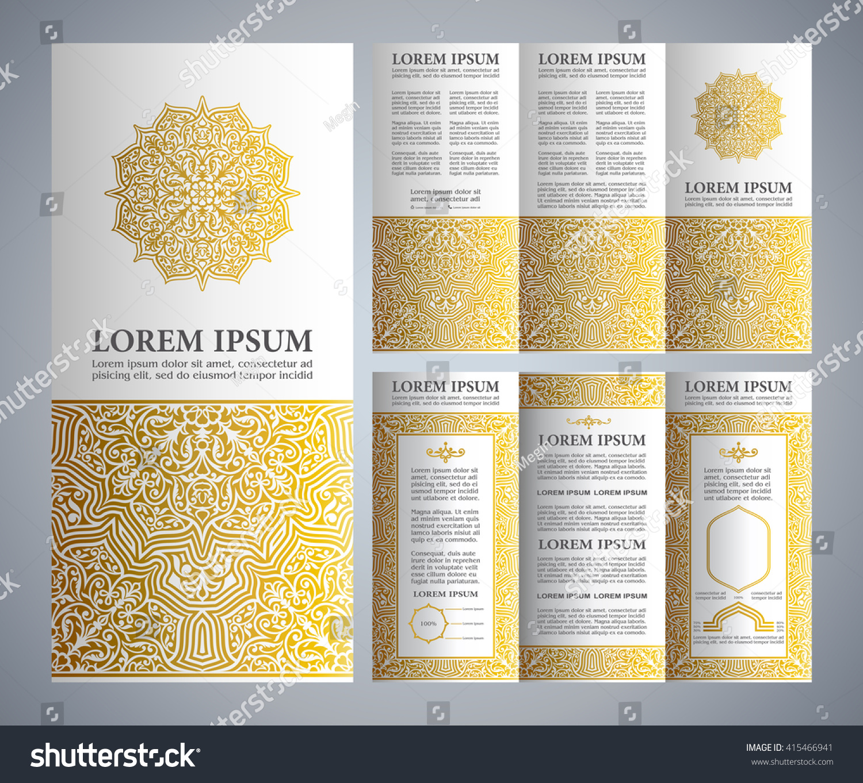 Vintage islamic style brochure flyer design for Islamic brochure design