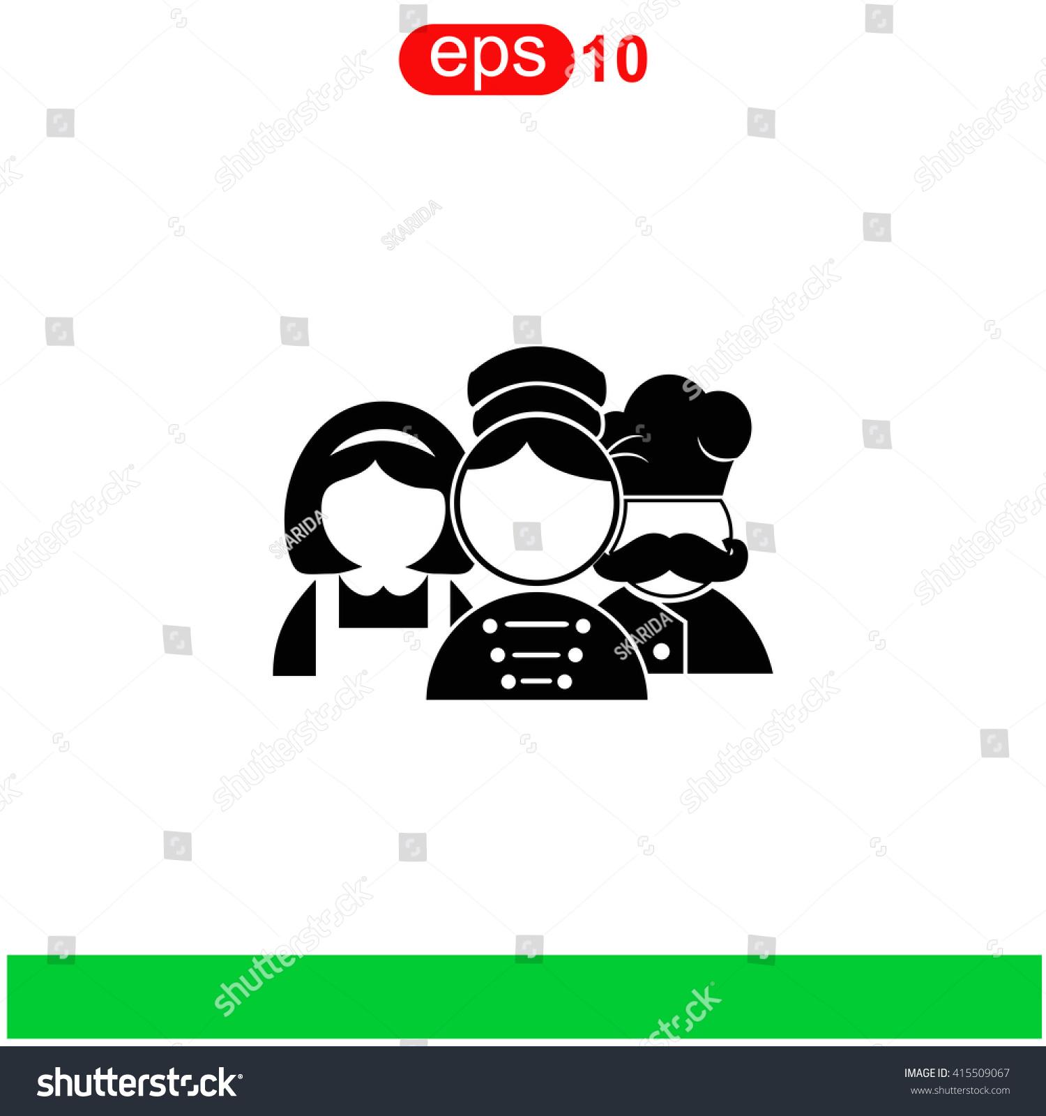 Hotel Staff Icon Stock Vektorgrafik 415509067
