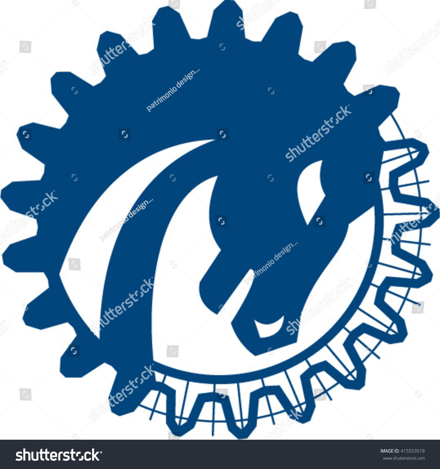 Vector De Stock Libre De Regalias Sobre Illustration Blue War Horse Head Side415553518