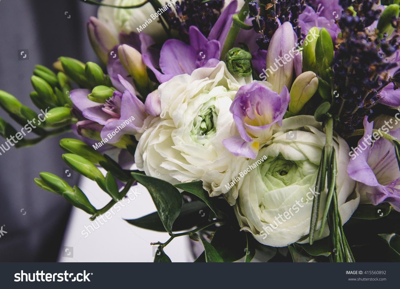 Beautiful Spring Bouquet Wedding Flowers White Stock Photo Edit Now