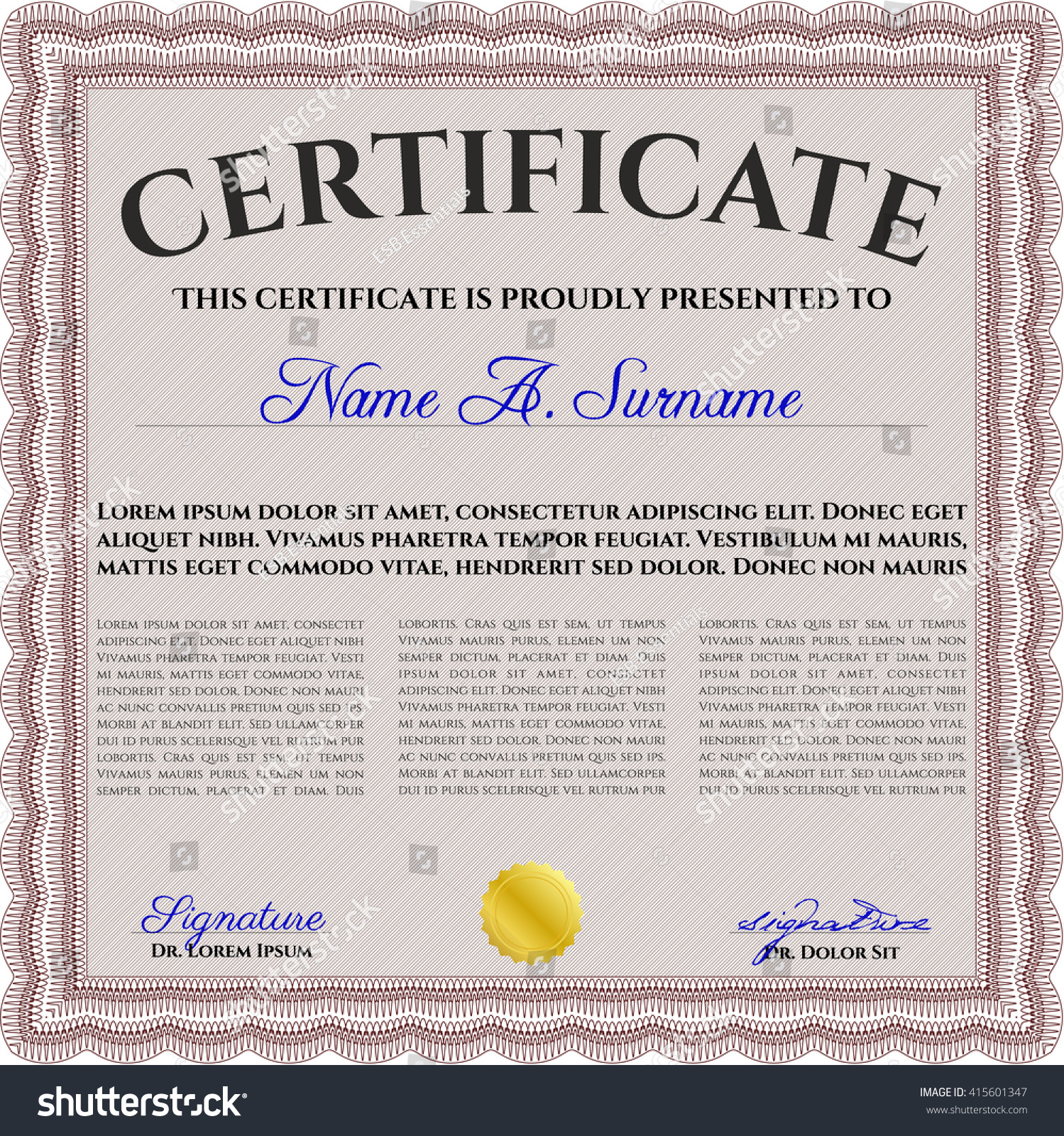 Fantastic gold medal certificate template contemporary example gold medal certificate template gallery templates example free alramifo Choice Image