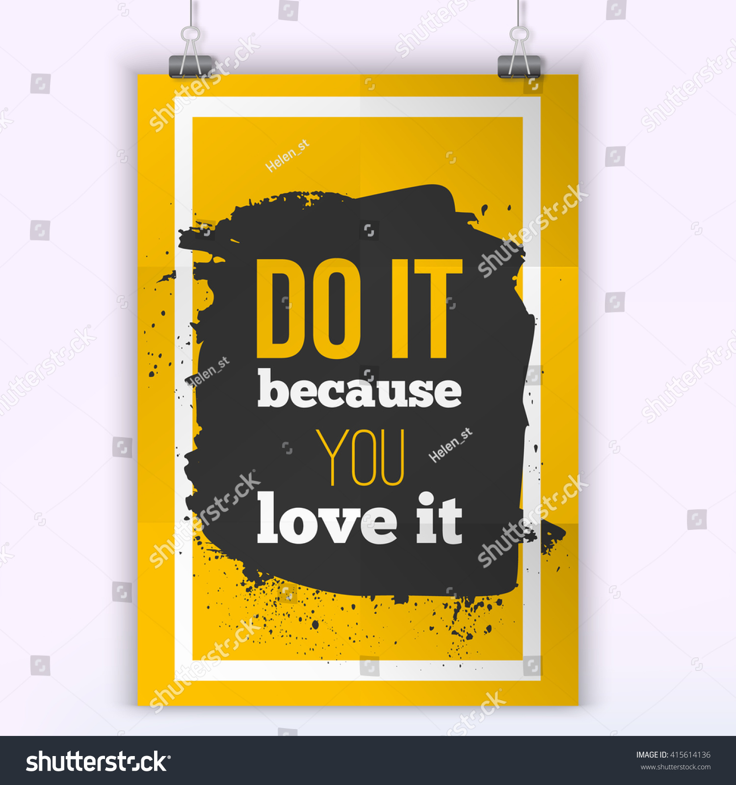 Do What You Love Inspirational Quote Stock Vector 415614136 ...