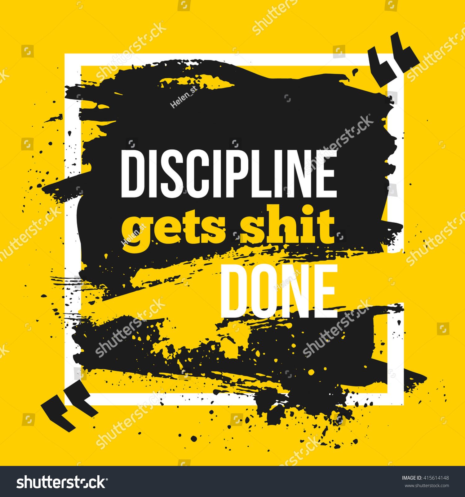 Inspirational Motivational Quote Discipline Gets Shit Stock Vector ...