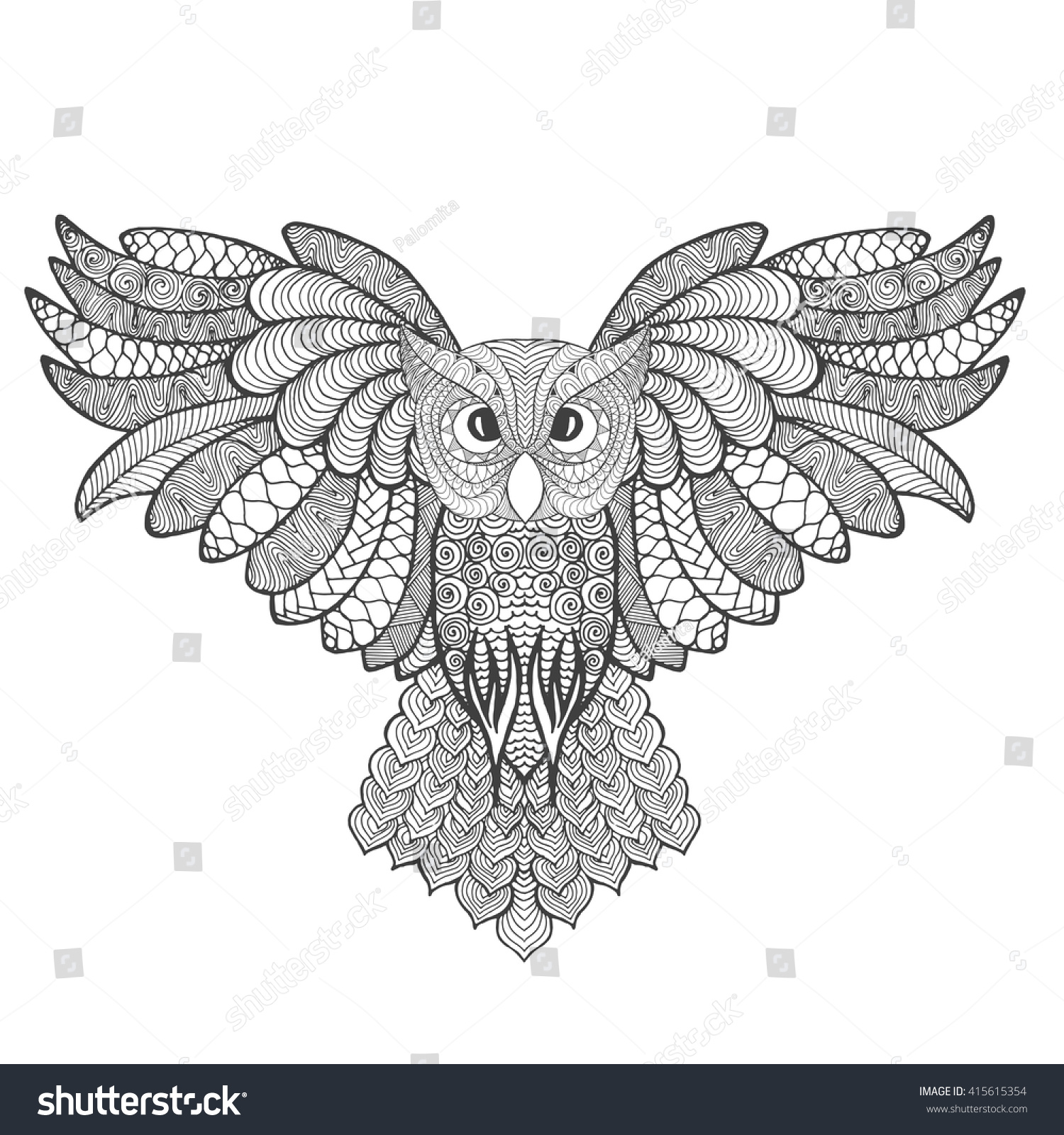 anti stress coloring pages owls - photo#36