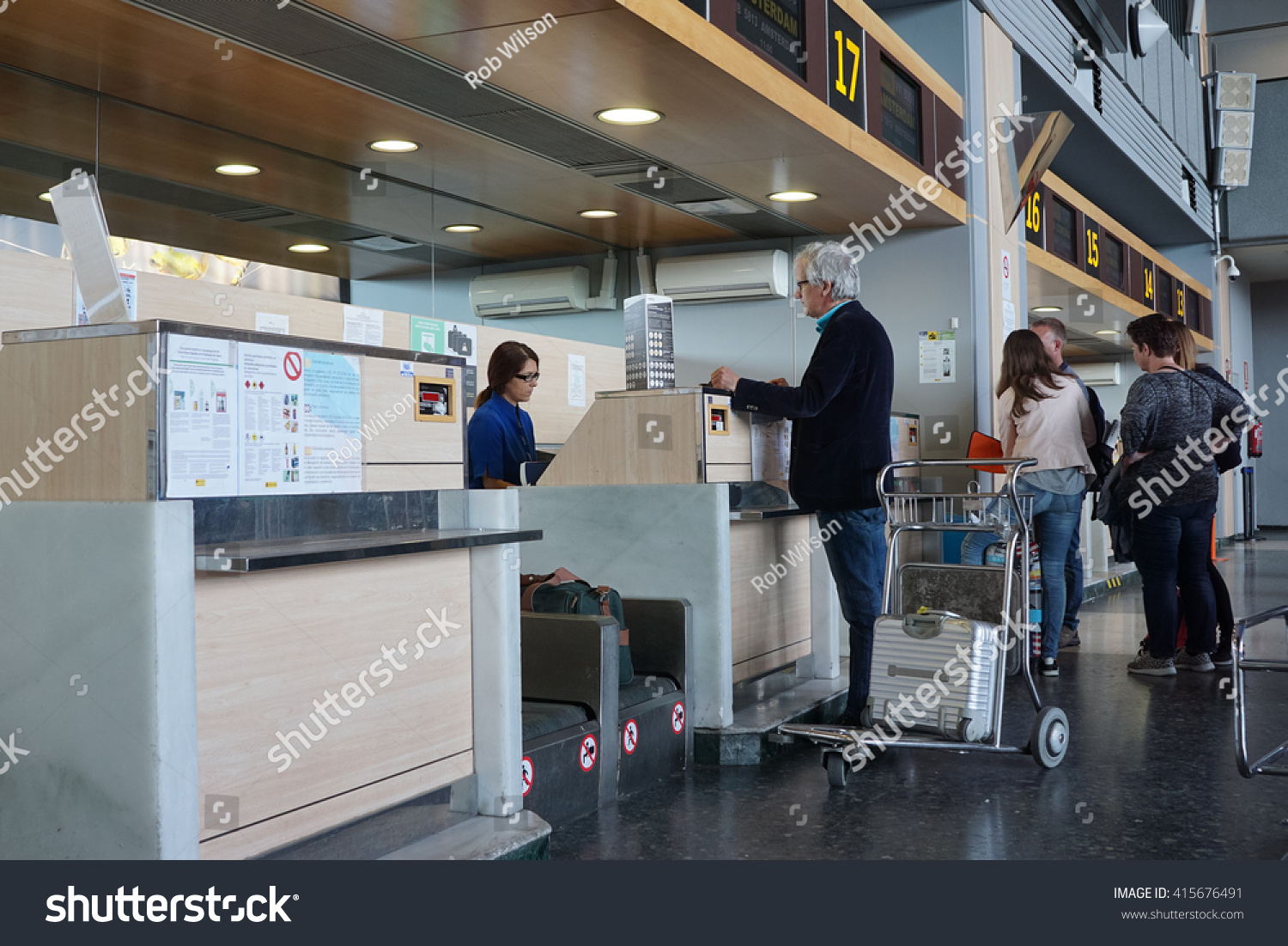 Valencia Spain April 30 2016 Airline Stock Photo 415676491