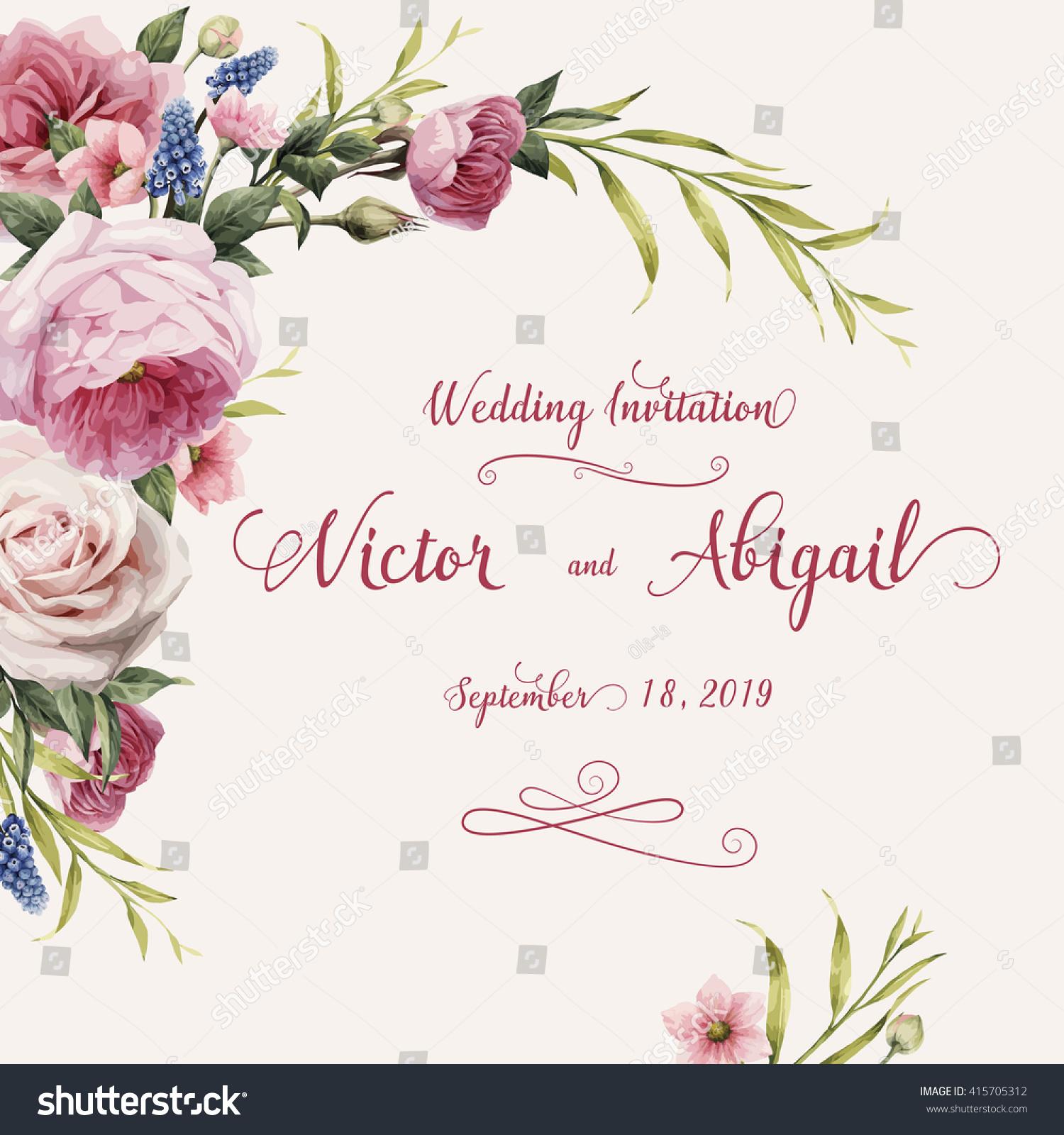 Similar Images Stock Photos Vectors Of Greeting Card Roses