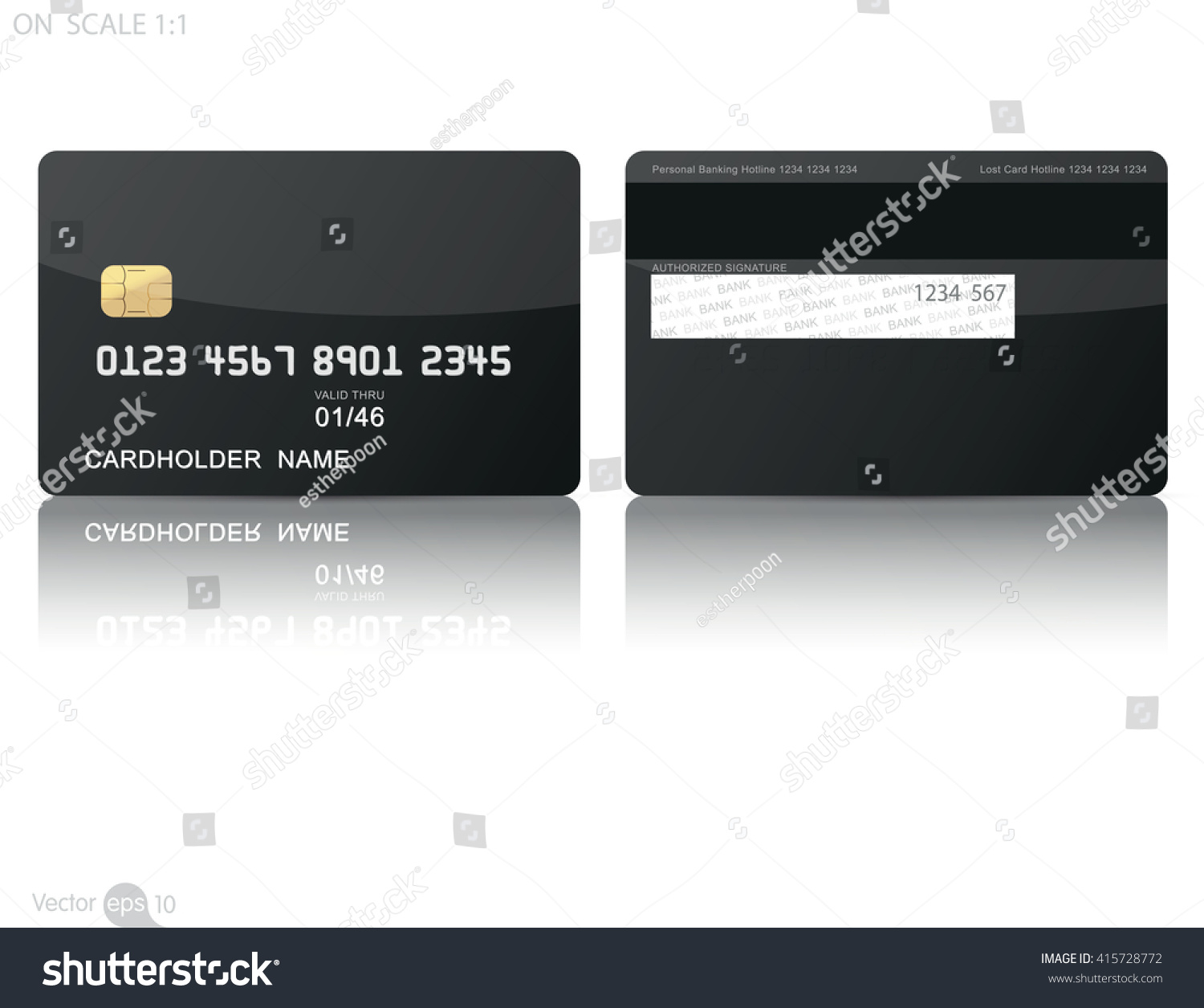 Credit Cards Template Stock Vector Royalty Free 415728772
