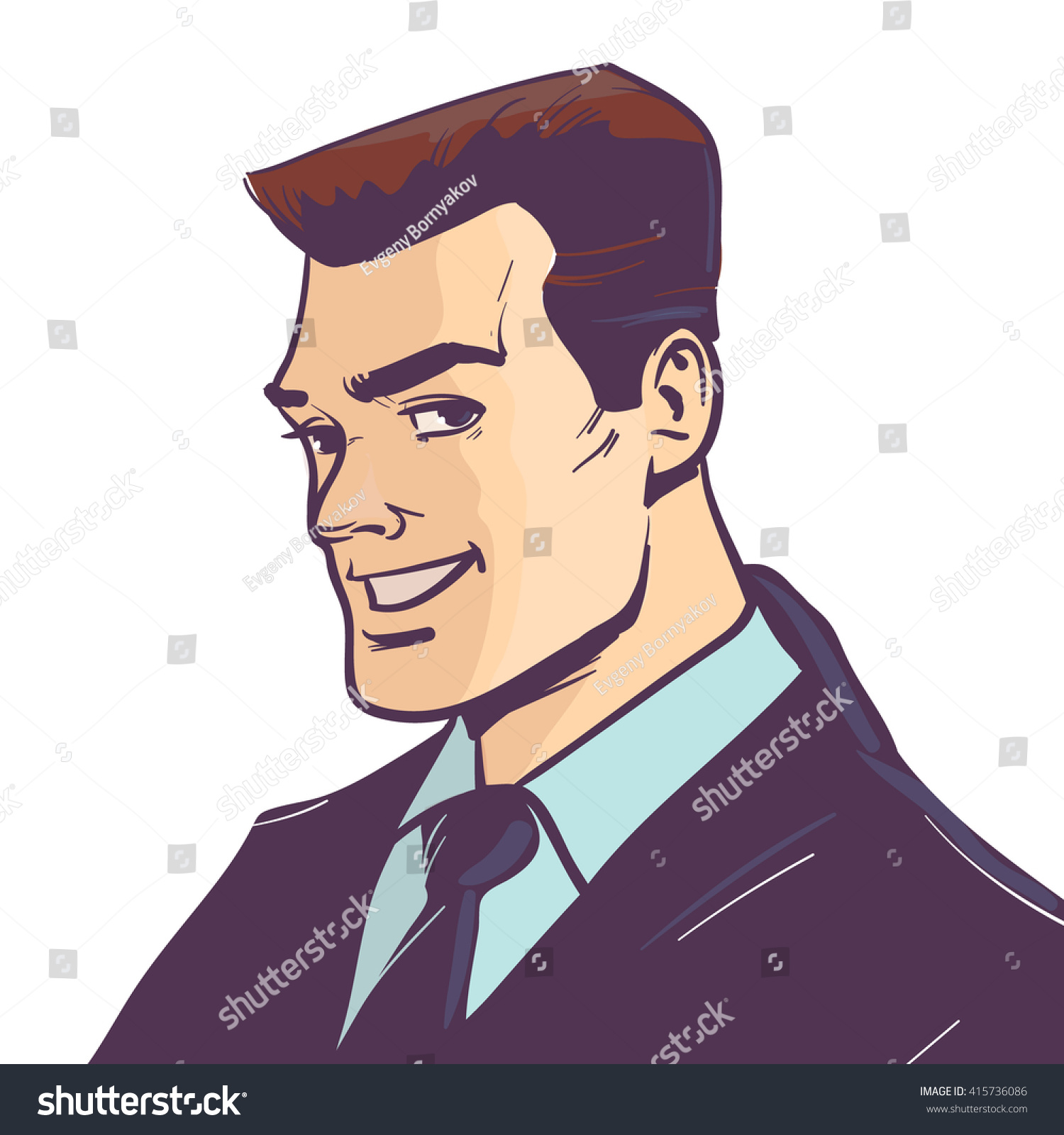 cartoon style smiling happy - photo #23