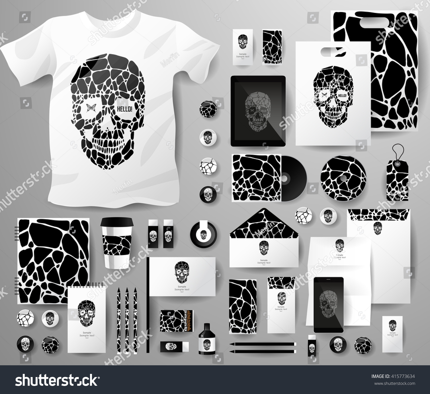Abstract business set skull bubble corporate stock vector abstract business set with skull and bubble corporate identity templates notebook card magicingreecefo Choice Image