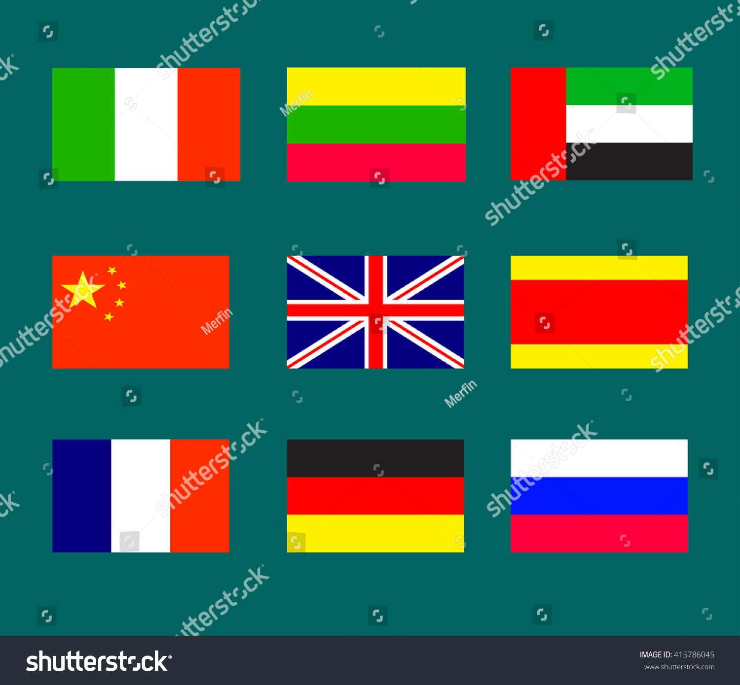 Flags Countries Most Widely Spoken Languages Stock Vector - What is the most widely spoken language in the world