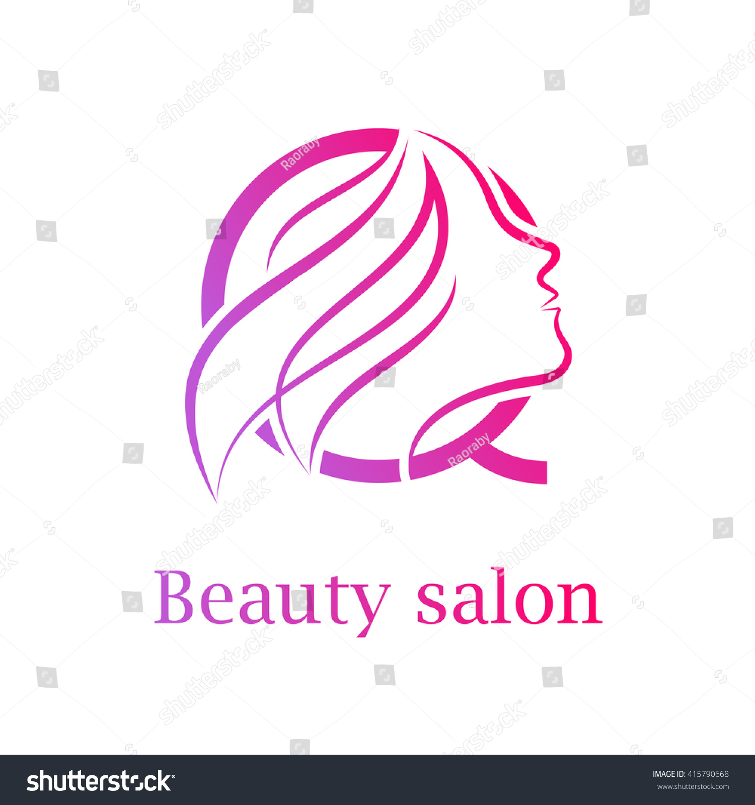 abstract letter q logobeauty salon logo stock vector