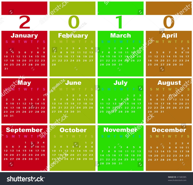 Calendar Illustration Search : Illustration of style design colorful calendar for