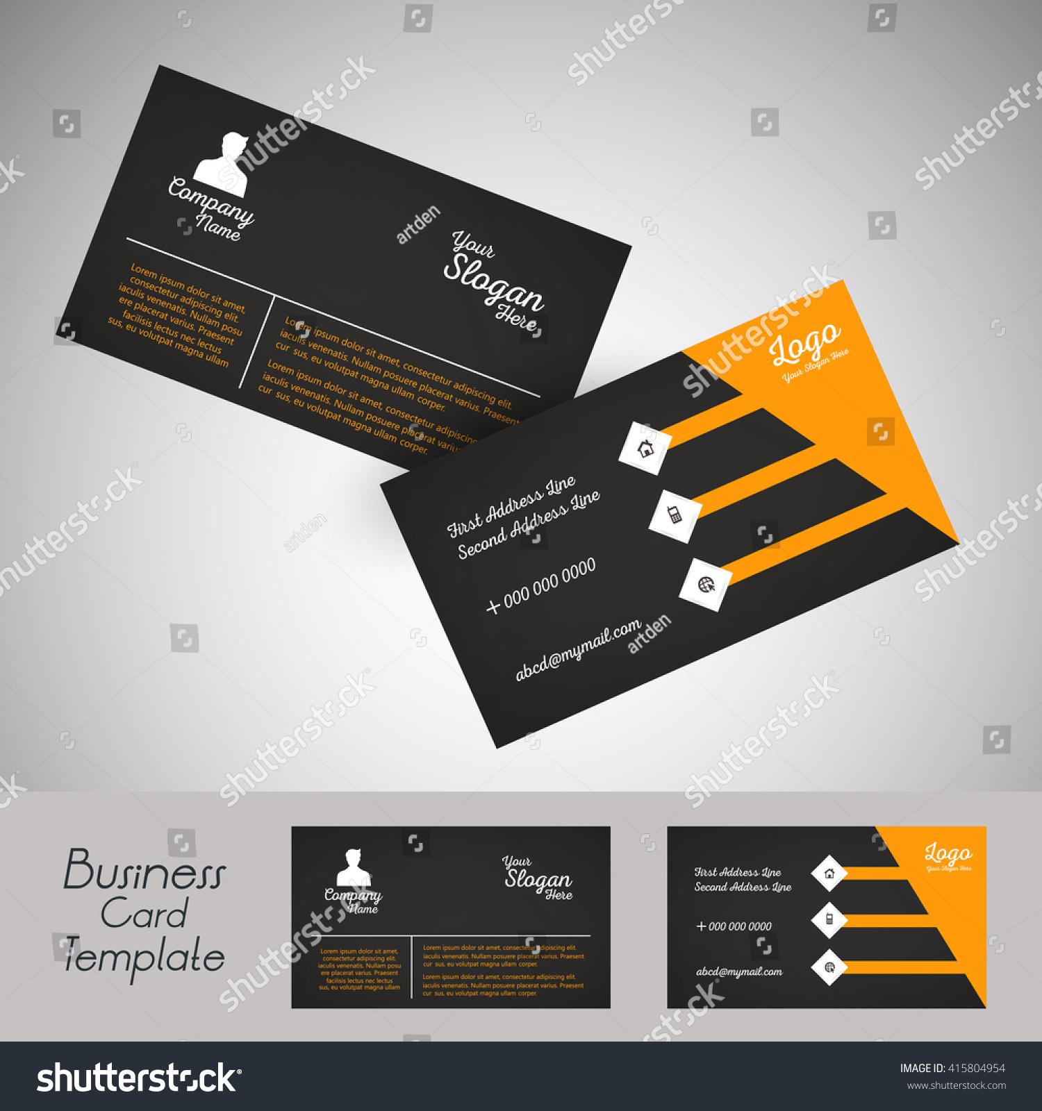 Creative Vector Design Business Cards Stock Vector 415804954 ...