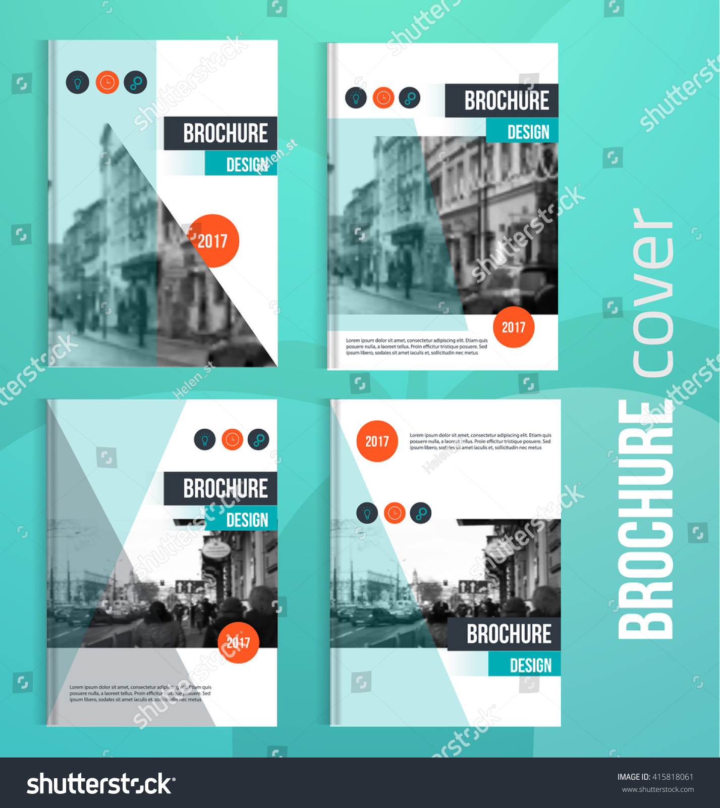 Set of Vector brochure cover templates with blured city landscape Business brochure cover design flyer brochure cover professional corporate brochure cover