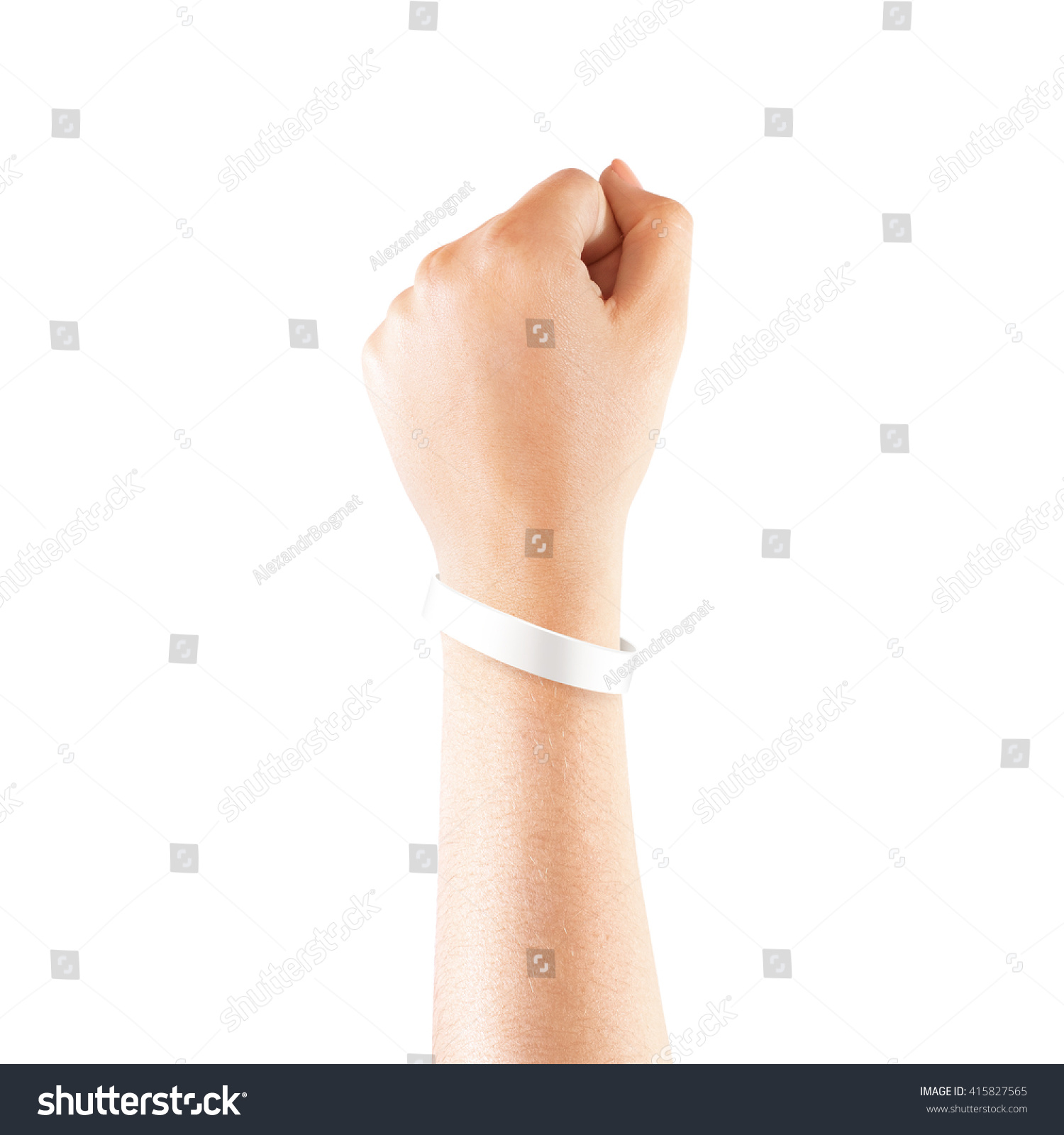 Blank White Rubber Wristband Mockup On Stock Photo ...