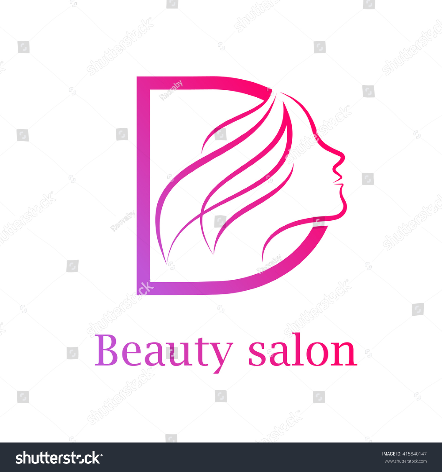 Abstract Letter D Logo Beauty Salon Logo Stock Vector (Royalty Free ...