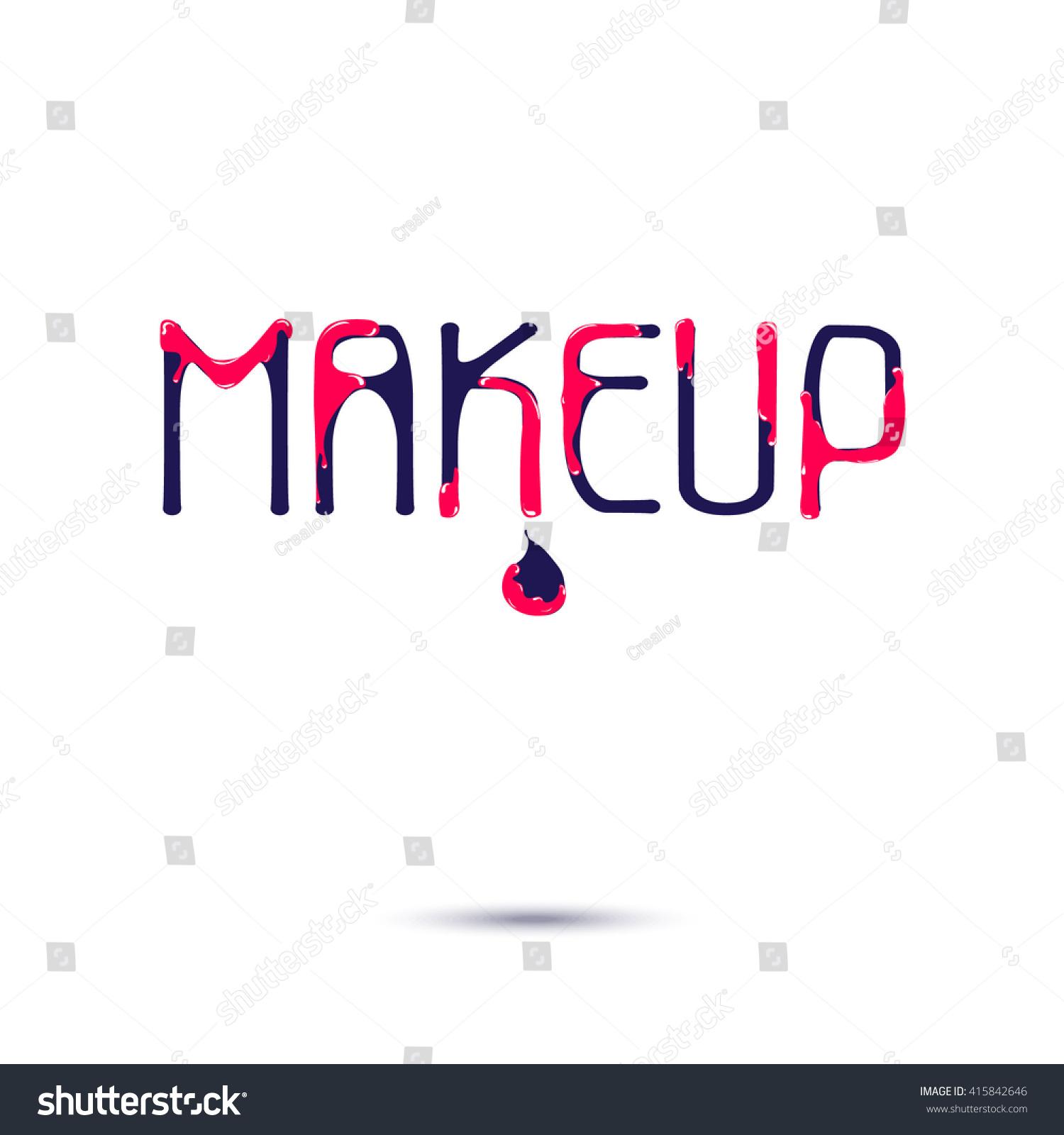Makeup Logo Creative Design Card Web Stock-vektorgrafik 415842646 ...