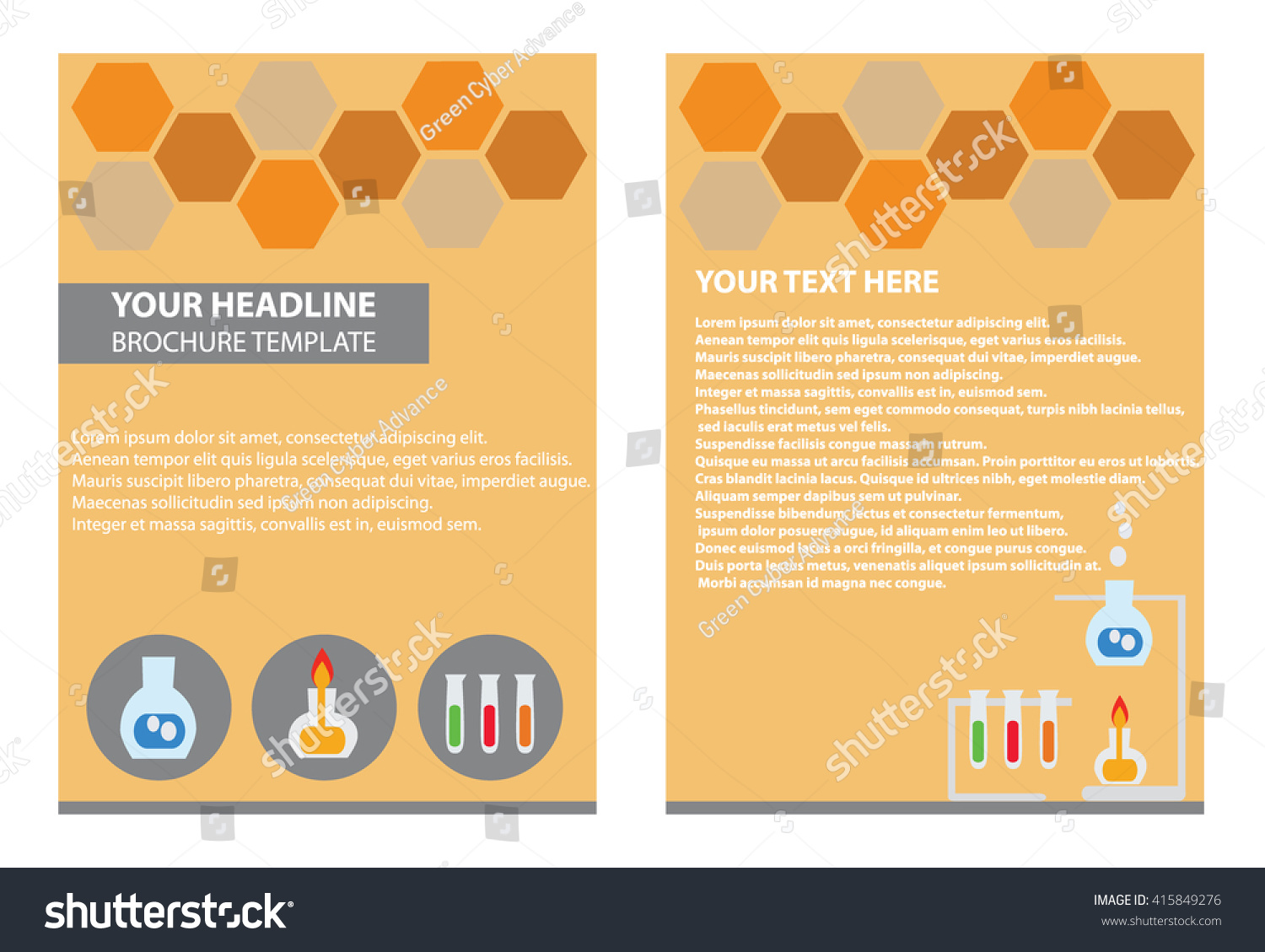 Brochure Template Illustrator Science Report Lap Stock Vector HD ...