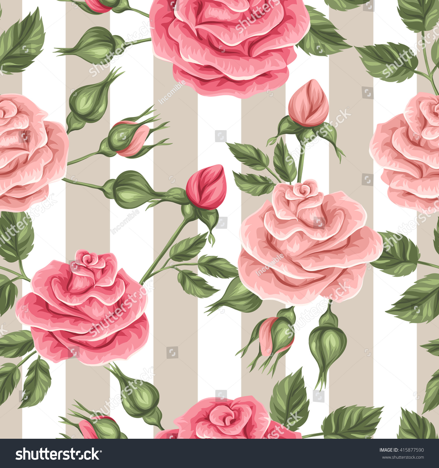 Seamless pattern vintage roses decorative retro stock vector seamless pattern with vintage roses decorative retro flowers easy to use for backdrop mightylinksfo