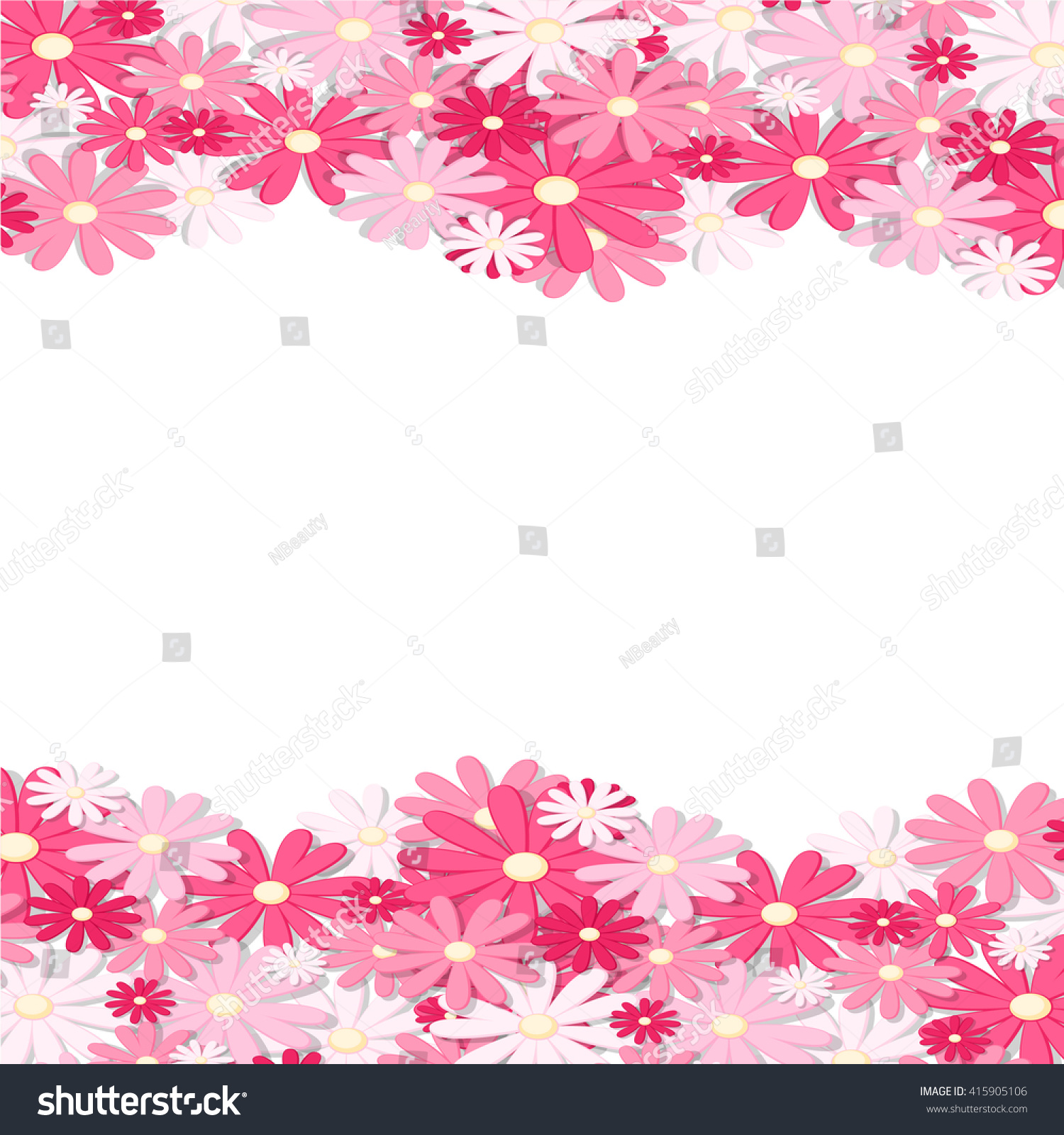 Pink flower border elegant vintage card stock vector 2018 pink flower border elegant vintage card design floral wallpaper horizontally seamless pattern mightylinksfo Images