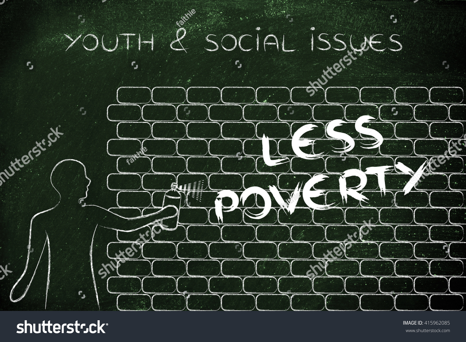 Person spray paint writing word less stock illustration 415962085 person with spray paint writing the word less poverty as wall graffiti youth social ccuart Image collections