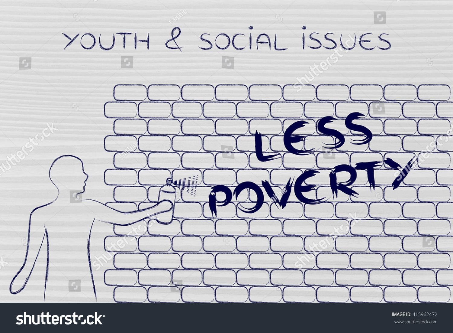 Person spray paint writing word less stock illustration 415962472 person with spray paint writing the word less poverty as wall graffiti youth social ccuart Image collections