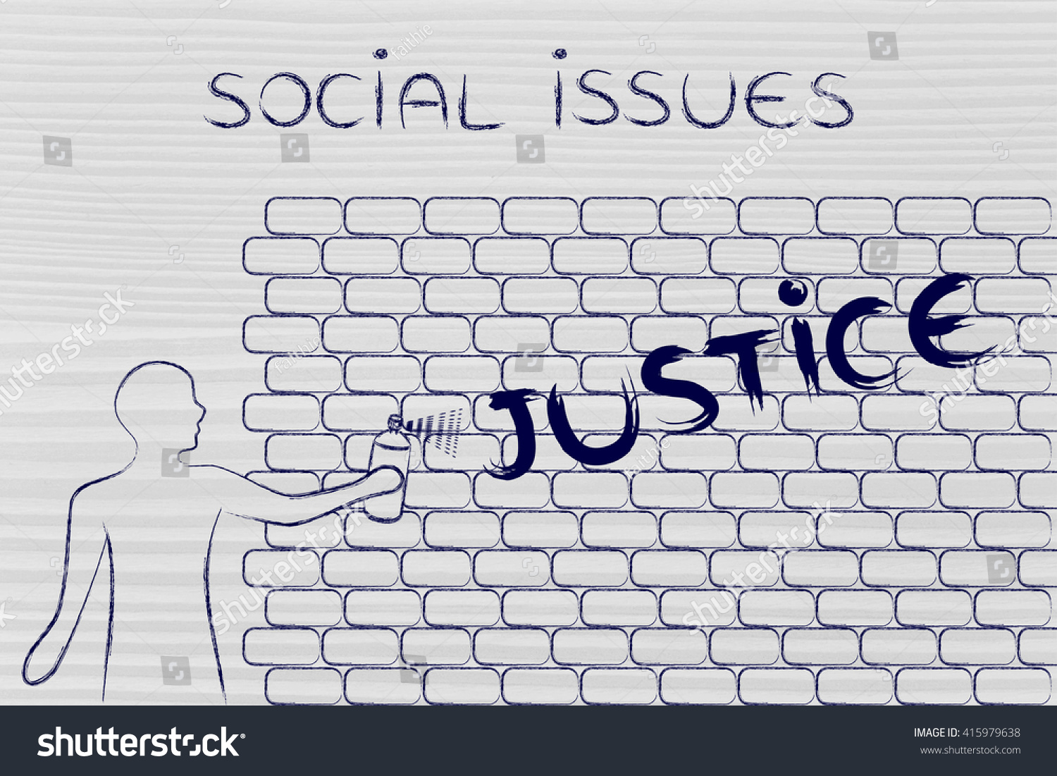 Person spray paint writing word justice stock illustration person with spray paint writing the word justice as wall graffiti social issues theme ccuart Image collections