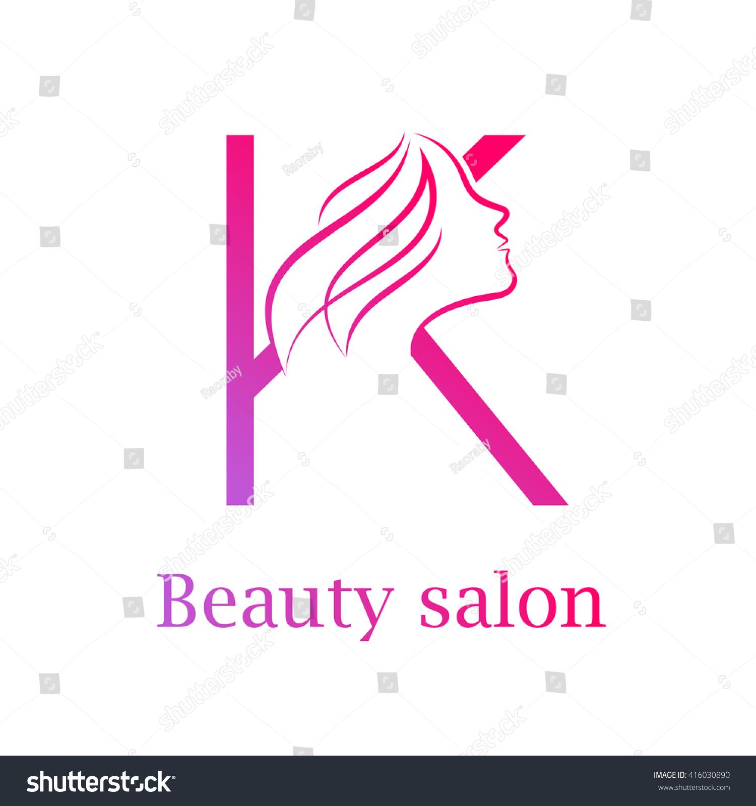 Abstract Letter K Logo Beauty Salon Logo Stock Vector (Royalty Free ...