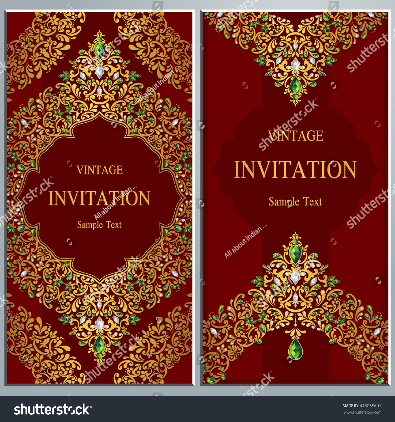 Wedding invitation or card with abstract background. Islam, Arabic ...