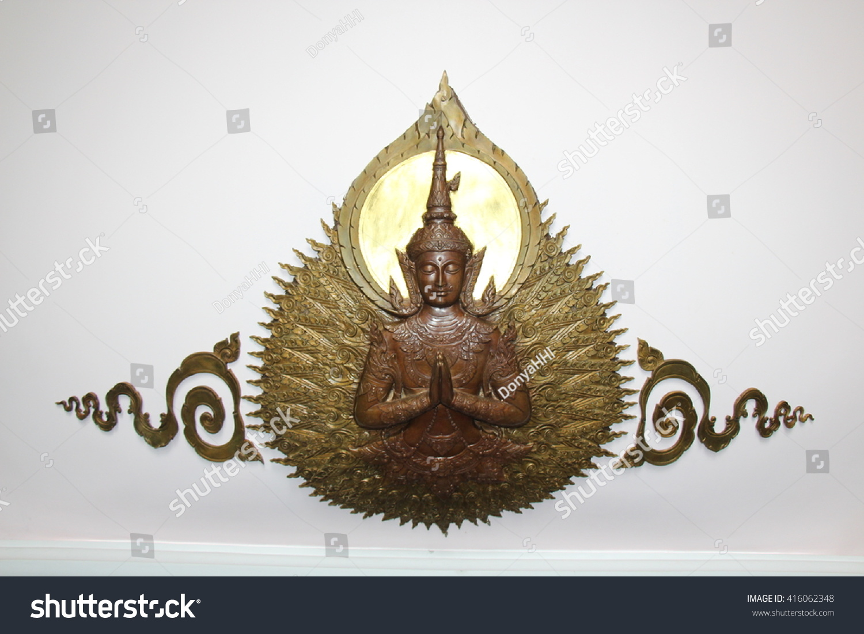 Sacred Buddhist Symbol Thai Temple Giving Stock Photo Royalty Free