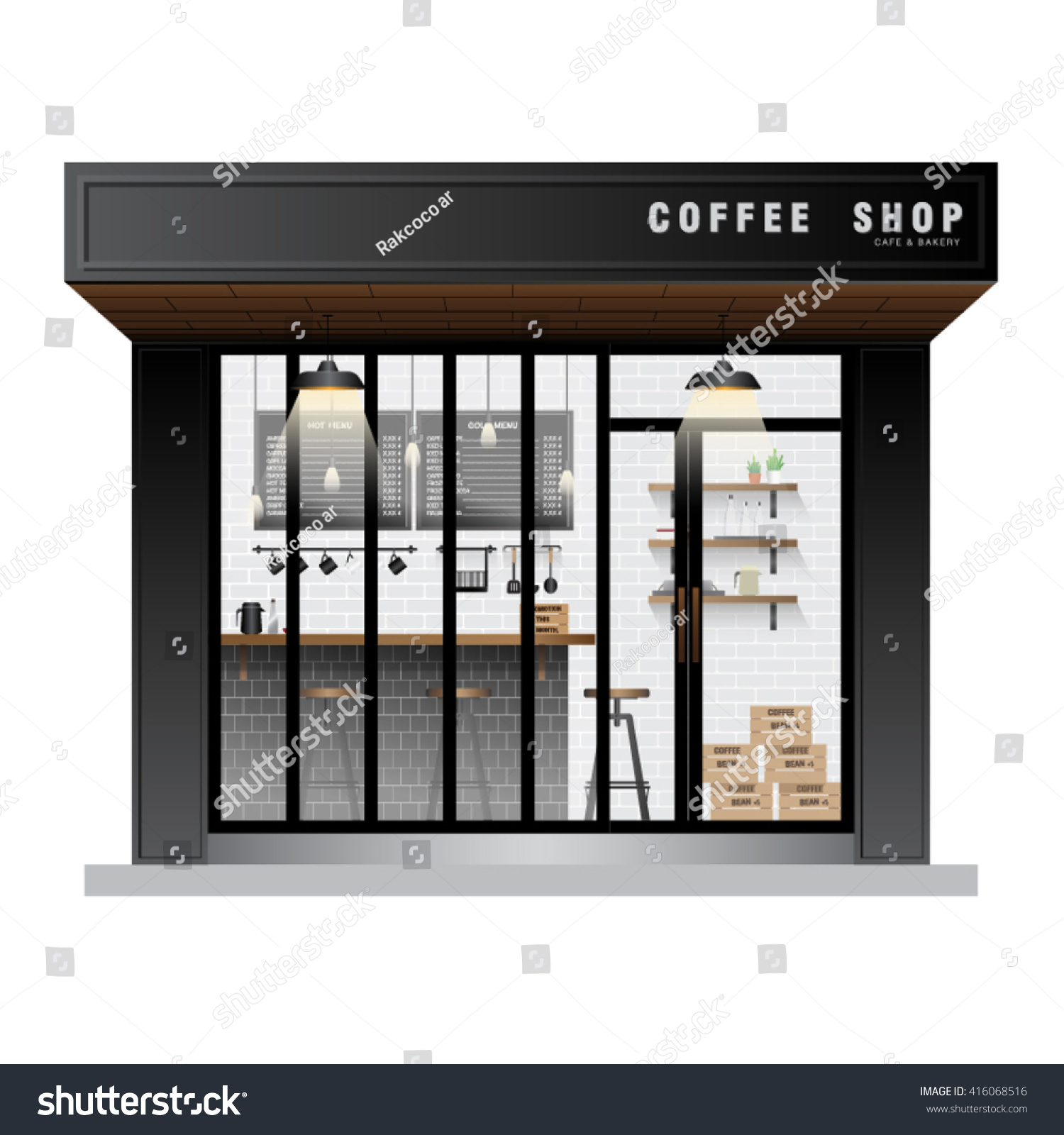 cafe coffee shop exterior vector stock vector 416068516 shutterstock