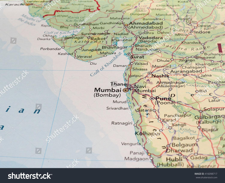 Bombay india map map of india 1937 constable1893 bombay india map mumbai india circa may 2016 detail stock photo 416098717 gumiabroncs Gallery