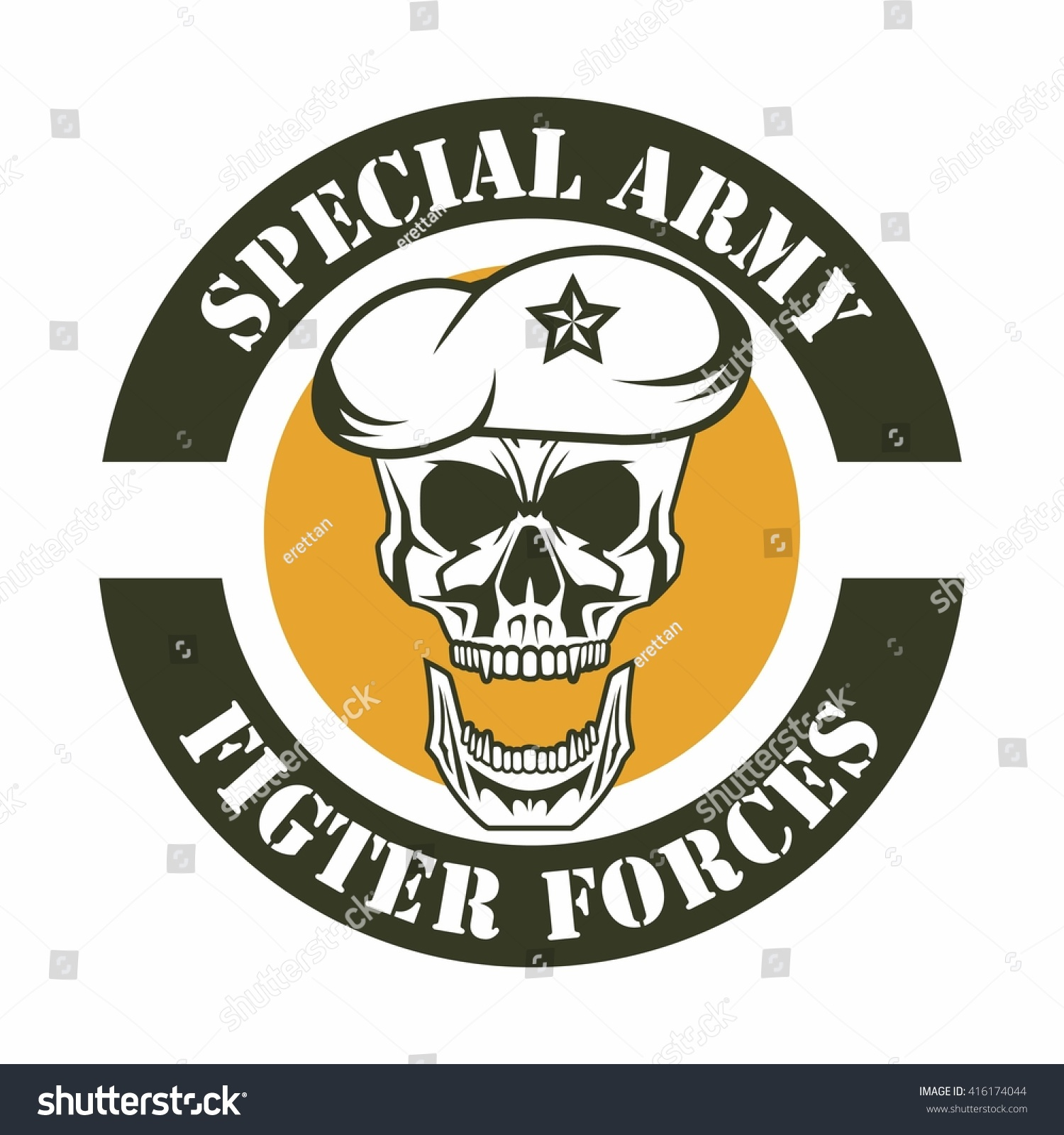 army logo template stock vector 416174044 shutterstock. Black Bedroom Furniture Sets. Home Design Ideas